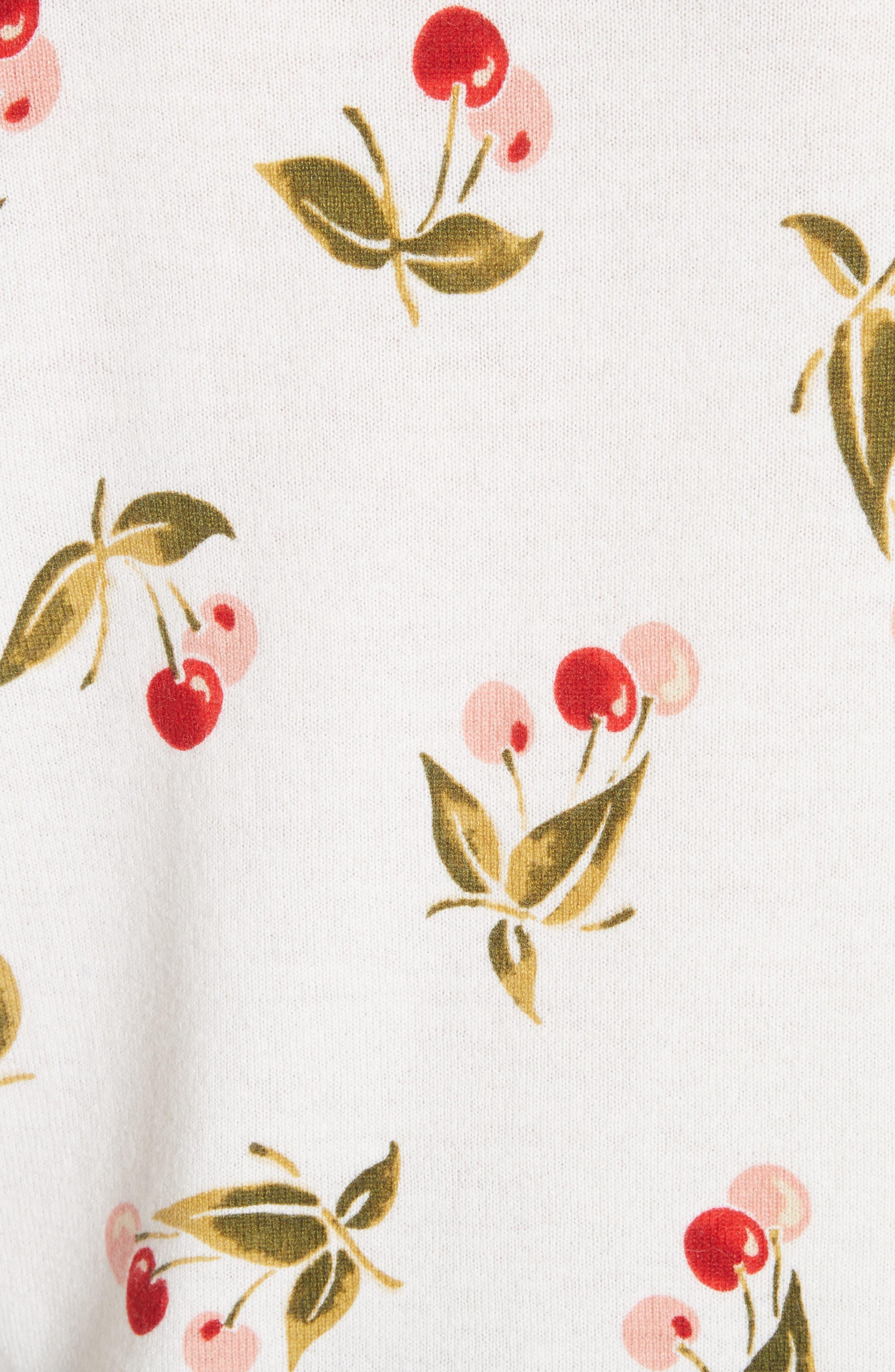 Print Cashmere Sweater,                             Alternate thumbnail 5, color,                             Porcelain