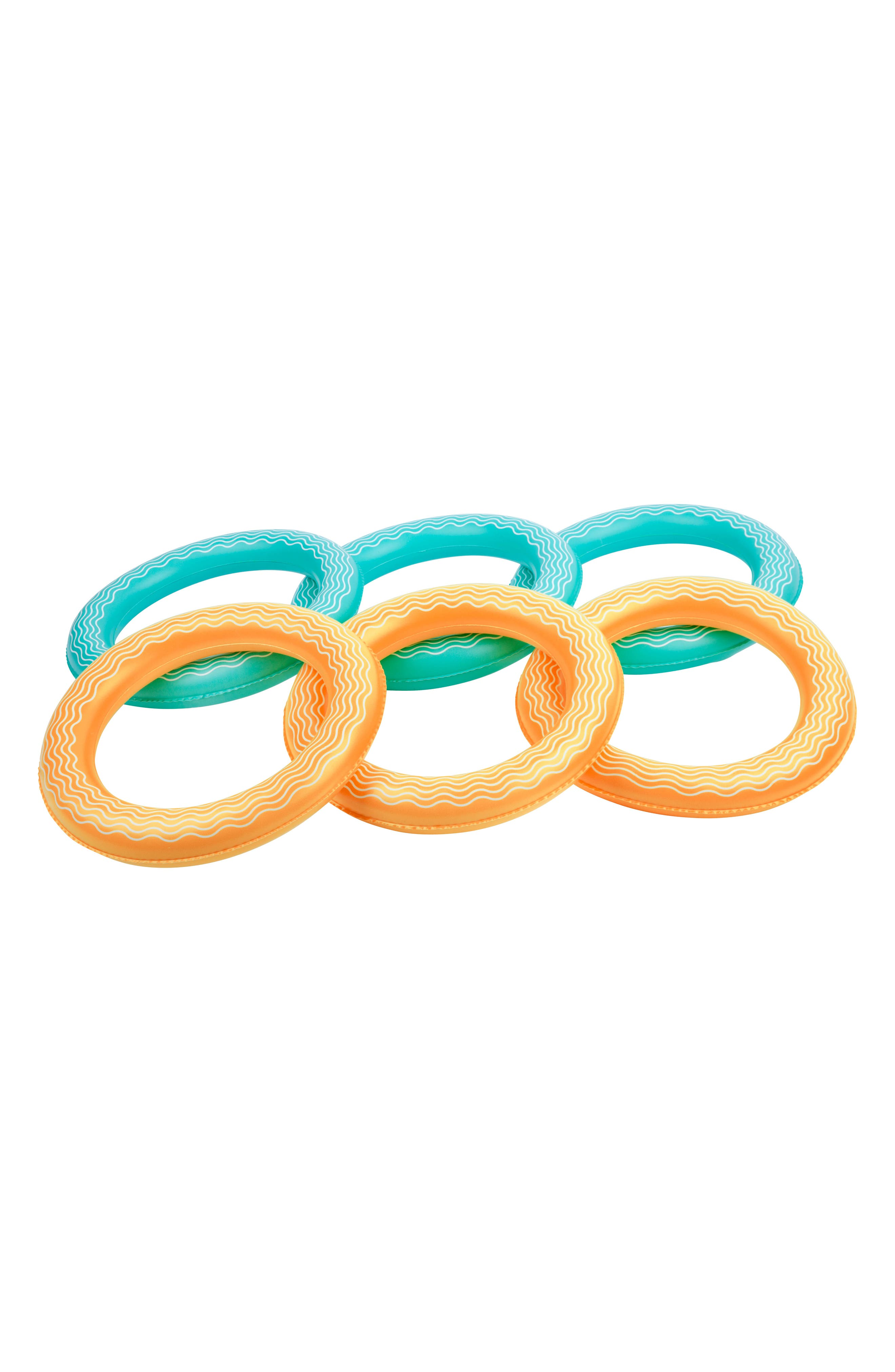 Inflatable Crab 7-Piece Ring Toss Game,                             Alternate thumbnail 3, color,                             Multi