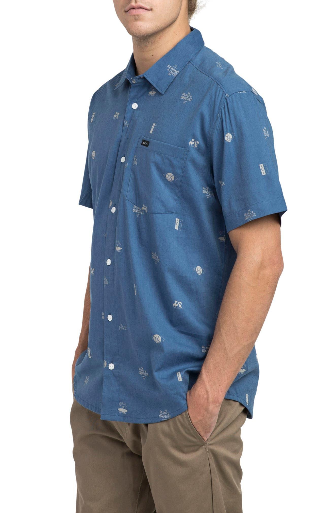 Mowgli Short Sleeve Shirt,                             Alternate thumbnail 3, color,                             Cobalt