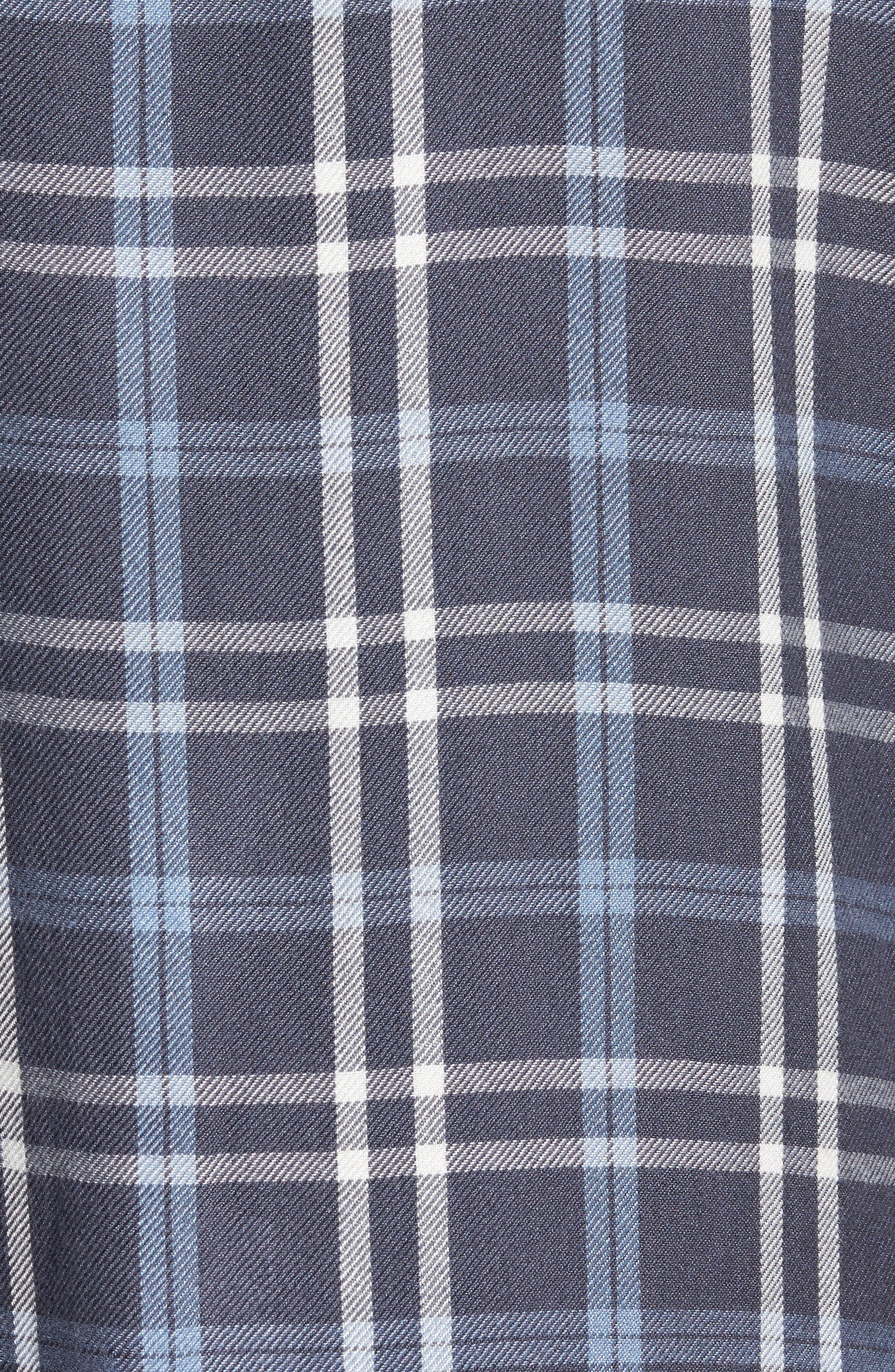 Yarn Dyed Plaid Shirt,                             Alternate thumbnail 5, color,                             Blue Grisaille Plaid