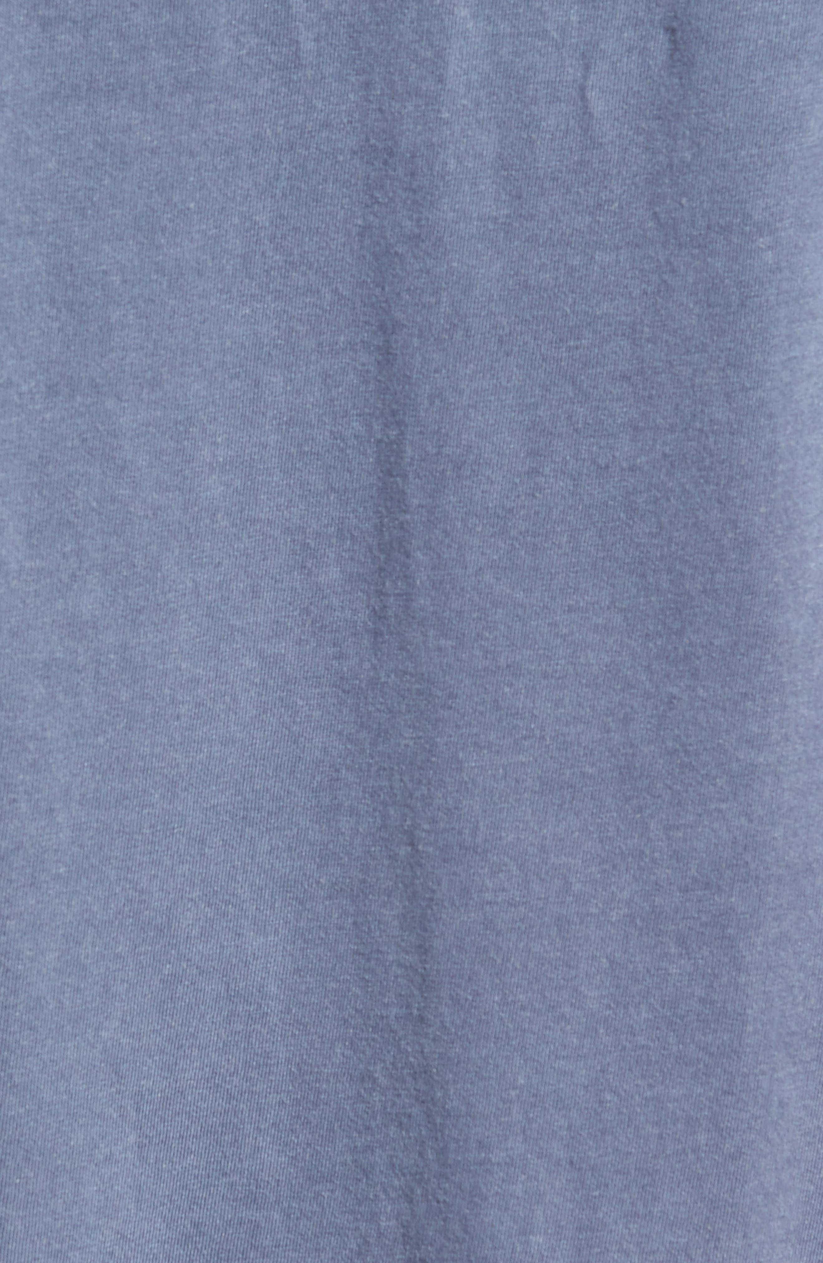 Raw Hem T-Shirt,                             Alternate thumbnail 5, color,                             Blue Indigo