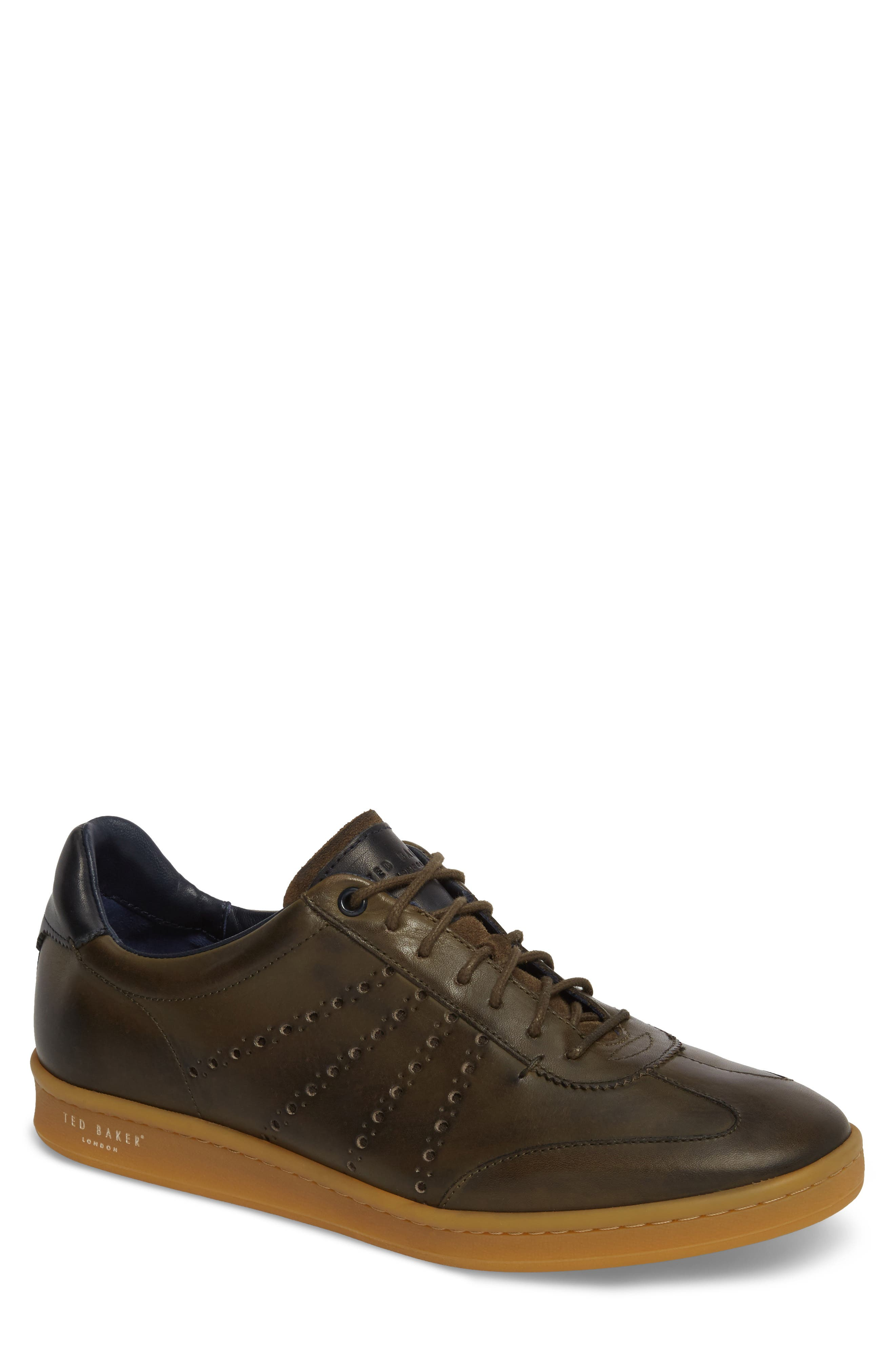 Orlee Sneaker,                             Main thumbnail 1, color,                             Dark Green Leather