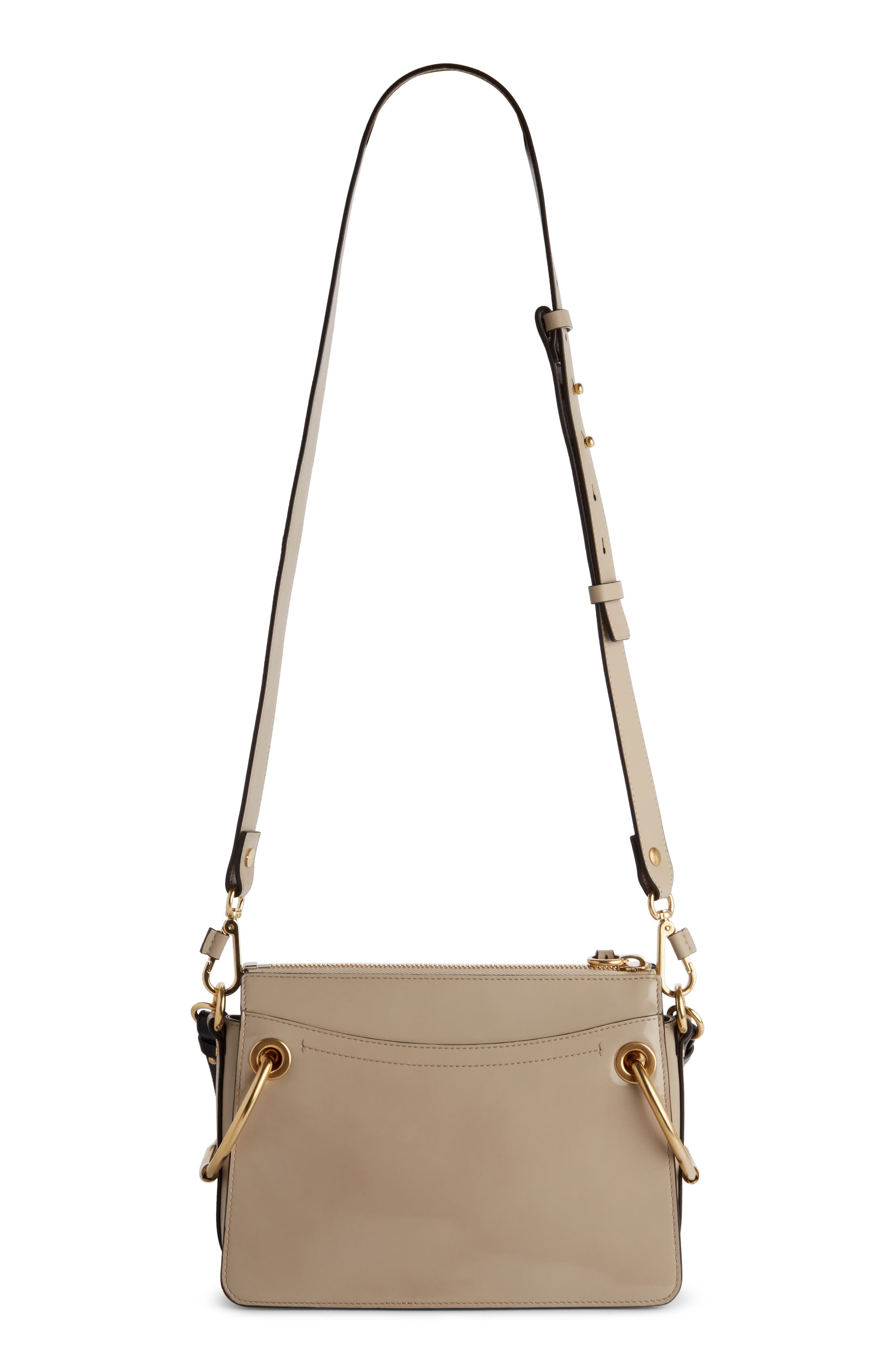 Large Roy Leather Shoulder Bag,                             Alternate thumbnail 4, color,                             Pastel Grey