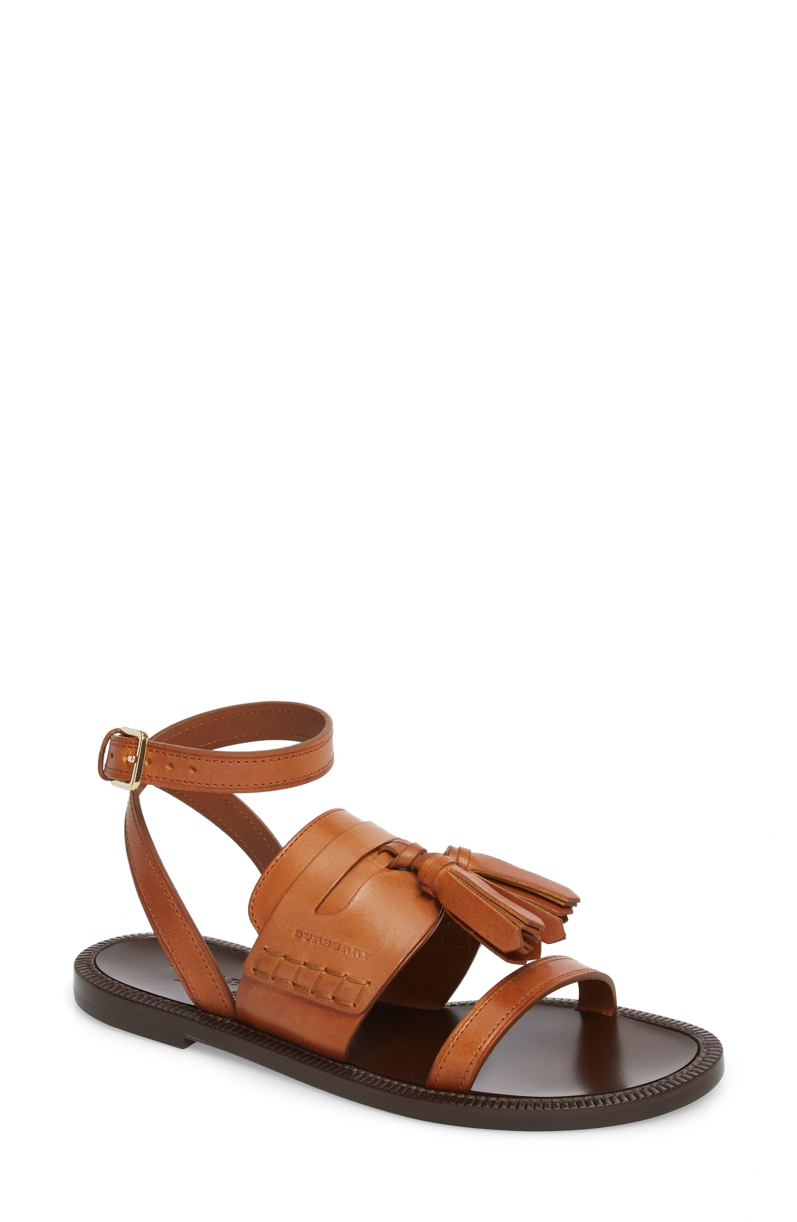 Burberry Bethany Tassel Flat Sandal (Women)