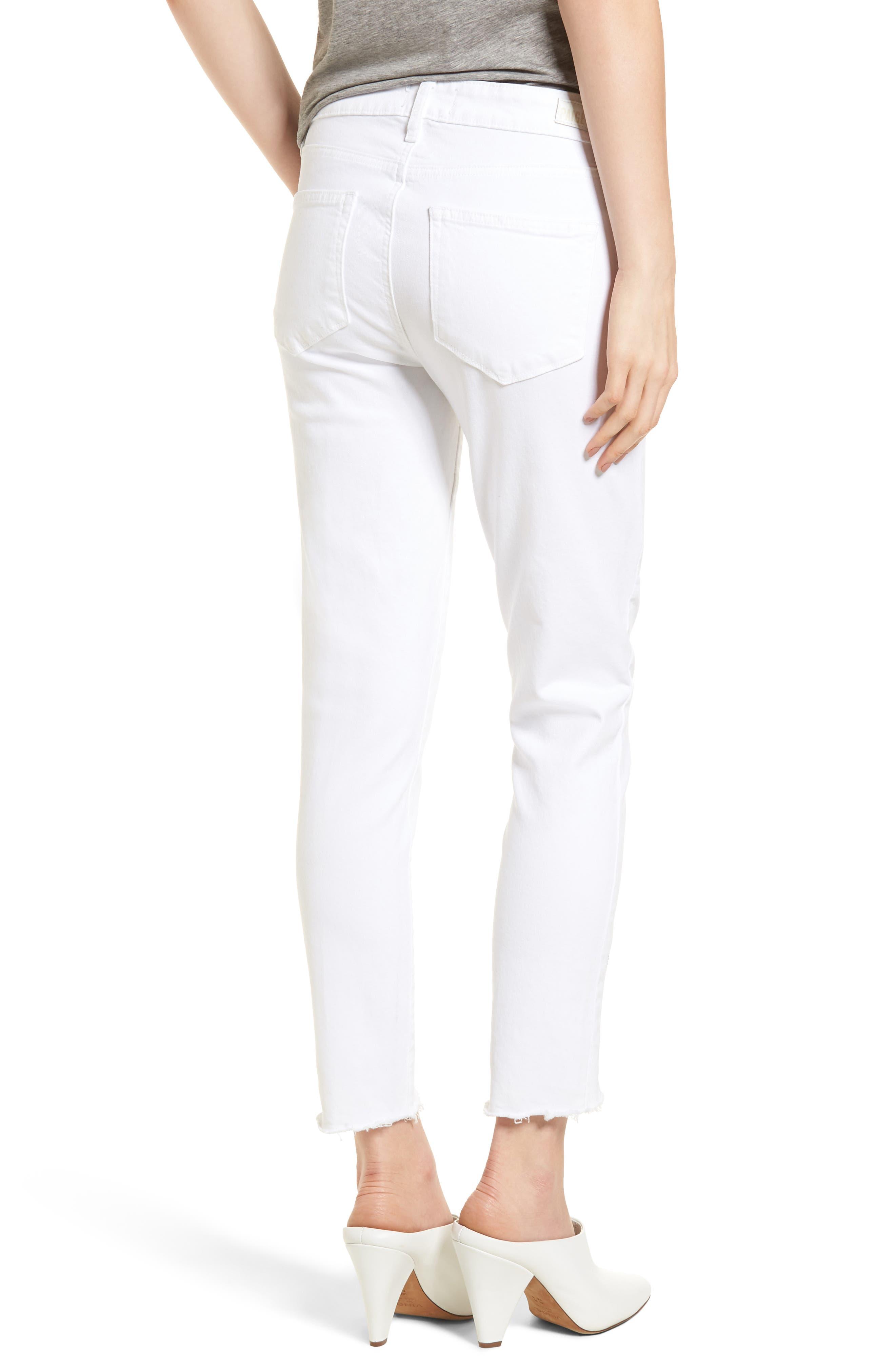 Verdugo Crop Ultra Skinny Jeans,                             Alternate thumbnail 2, color,                             Crisp White