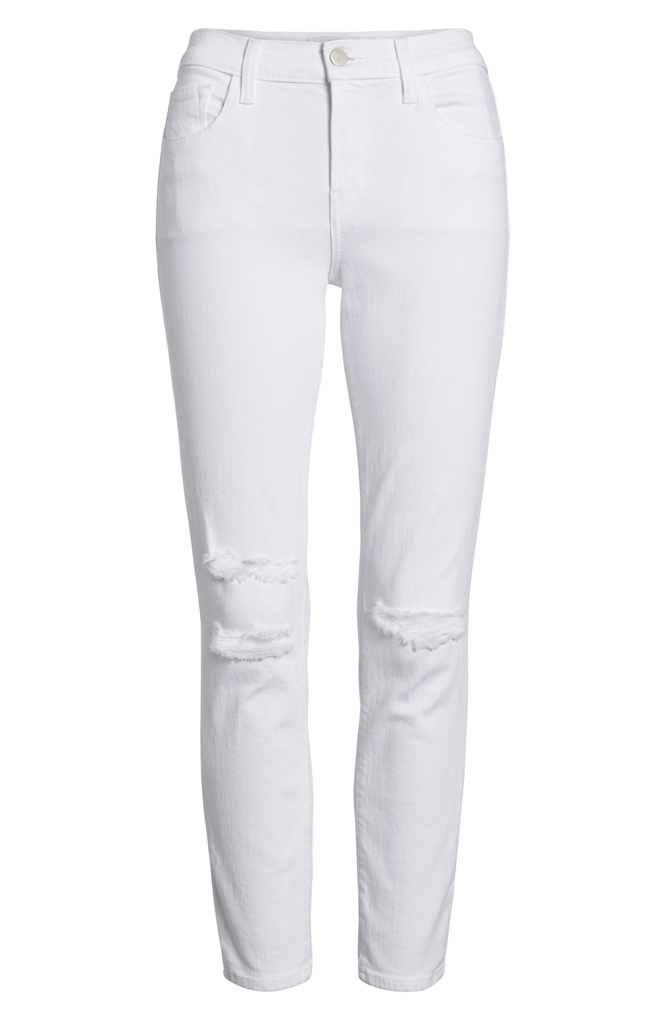 Mid-Rise Capri Skinny Jeans,                             Alternate thumbnail 7, color,                             White Mercy