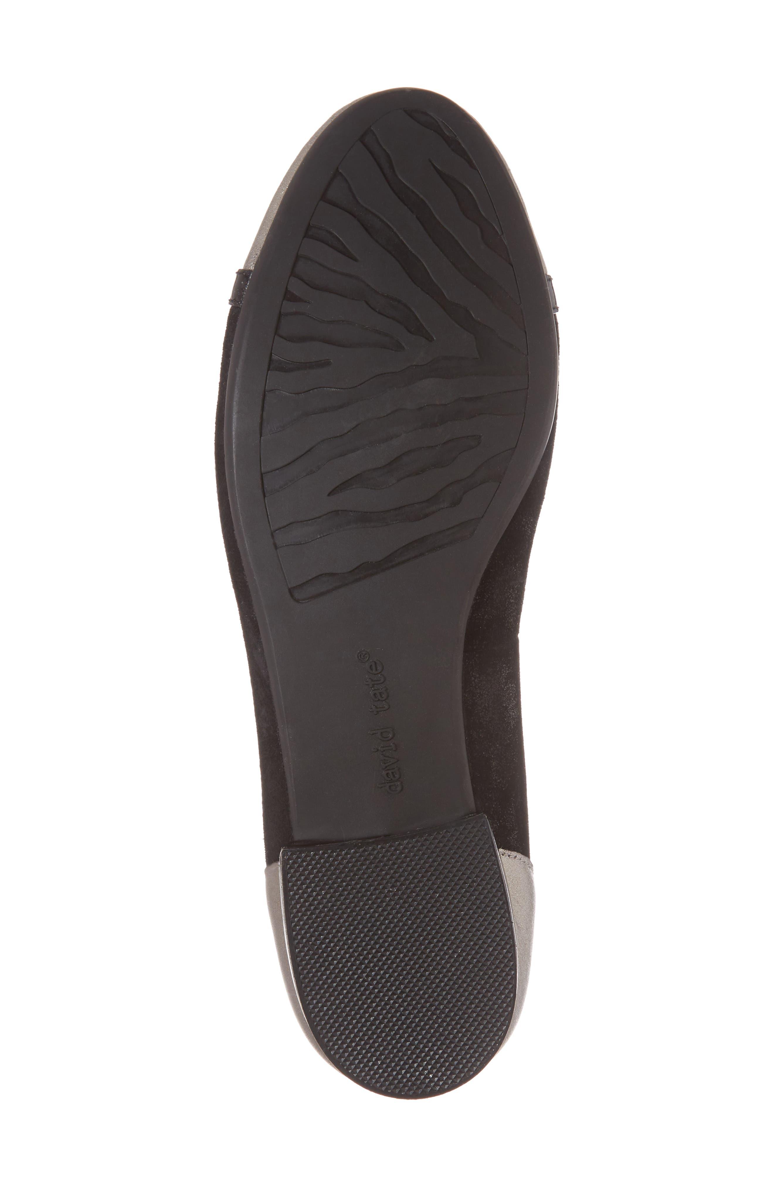 Luscious Flat,                             Alternate thumbnail 6, color,                             Black Leather