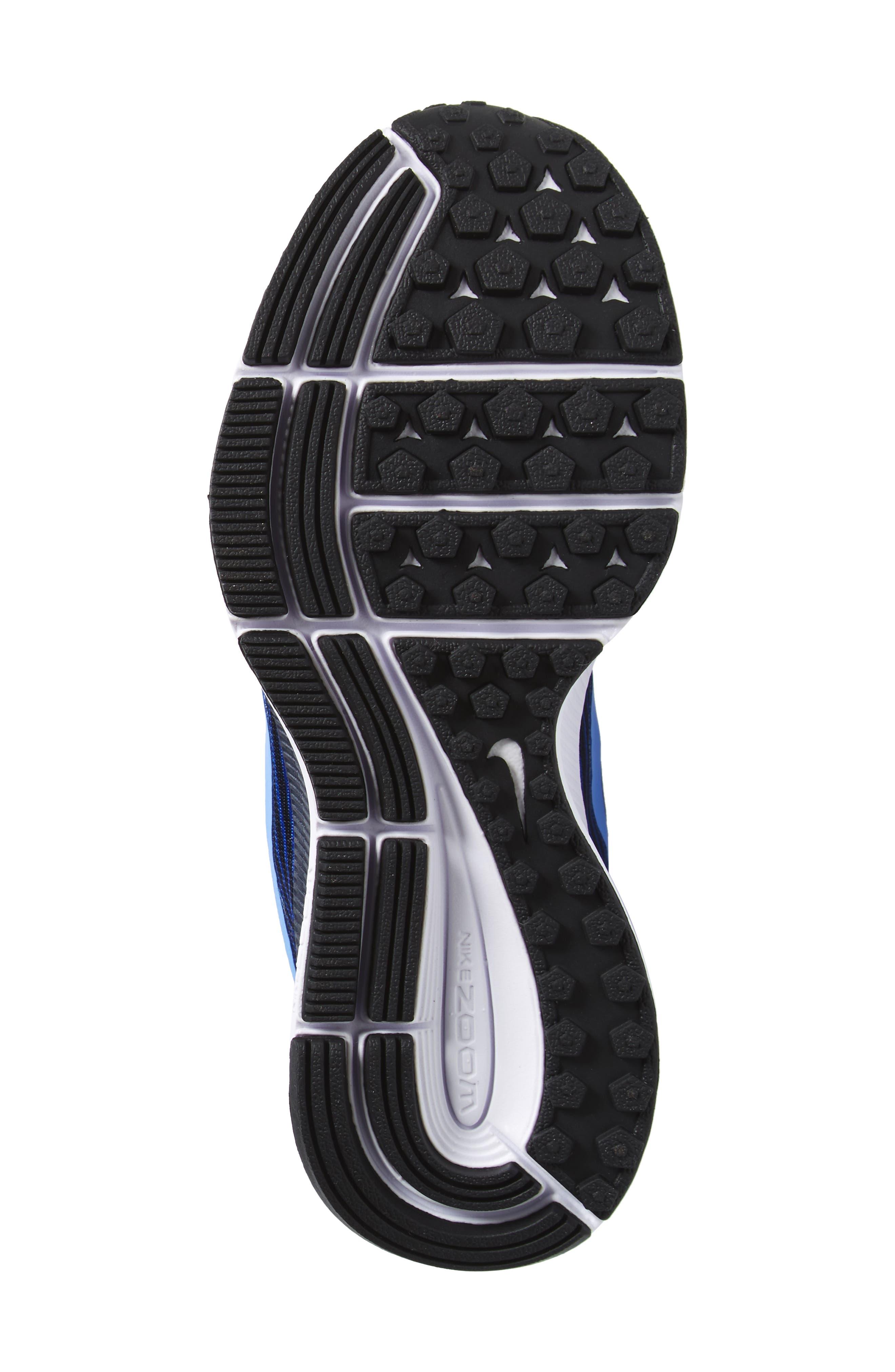 Zoom Pegasus 34 Sneaker,                             Alternate thumbnail 6, color,                             Hyper Royal/ Obsidian