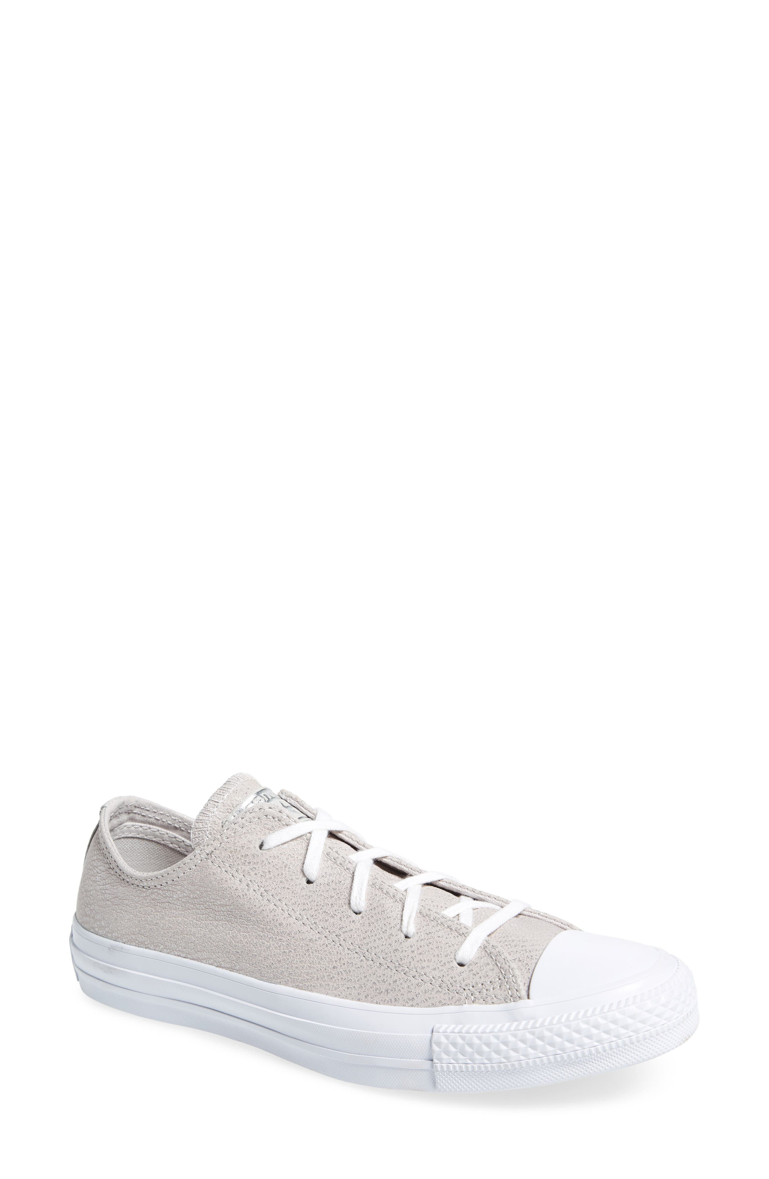 Chuck Taylor<sup>®</sup> All Star<sup>®</sup> Tipped Metallic Low Top Sneaker,                         Main,                         color, Pale Putty