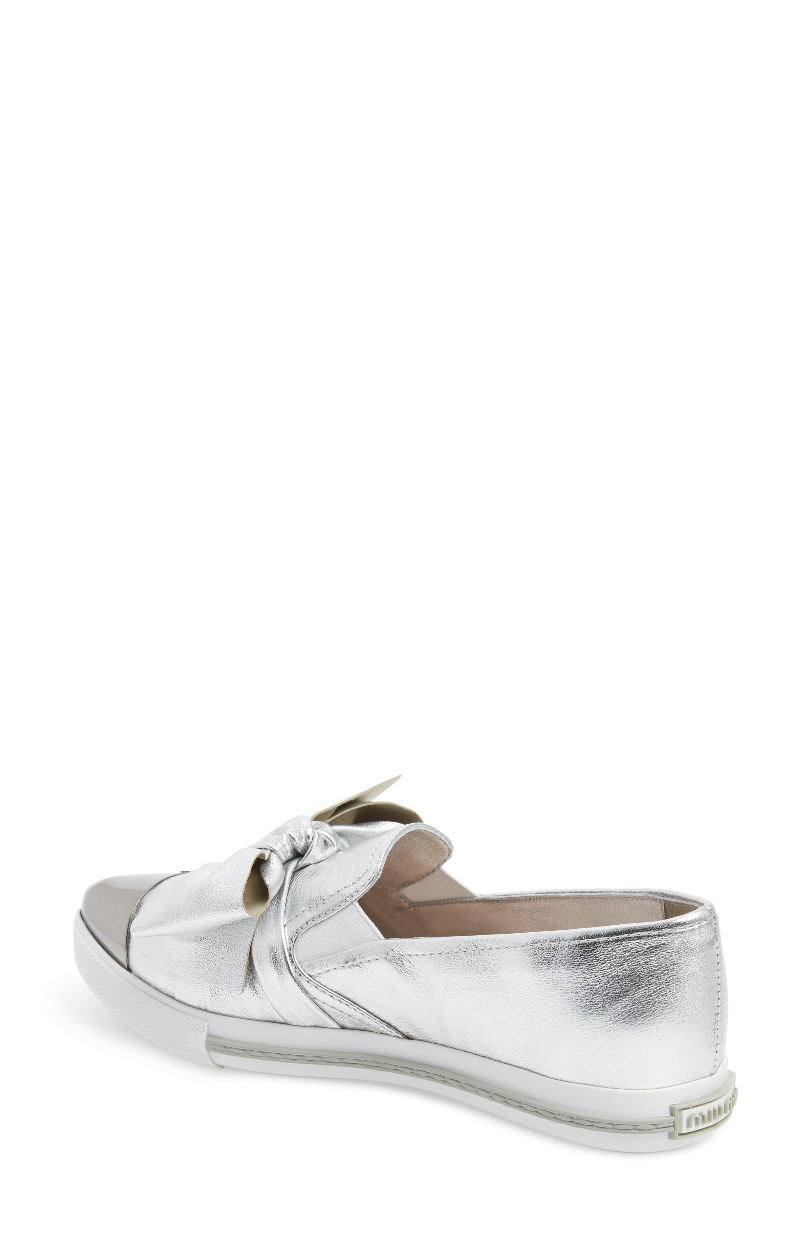 Cap Toe Hidden Wedge Sneaker,                             Alternate thumbnail 2, color,                             Silver