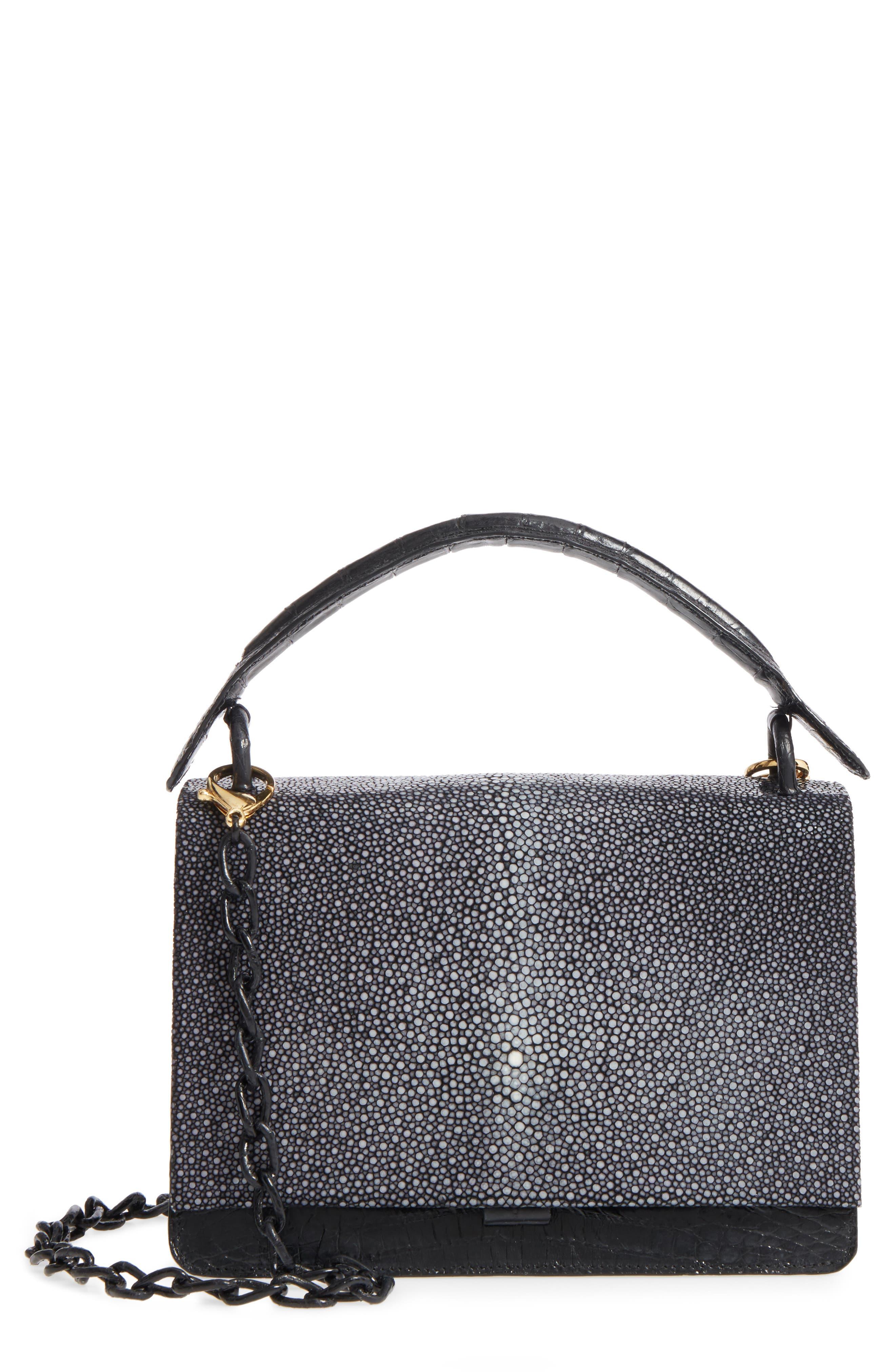 Nancy Gonzalez Divino Genuine Crocodile & Stingray Top Handle Bag