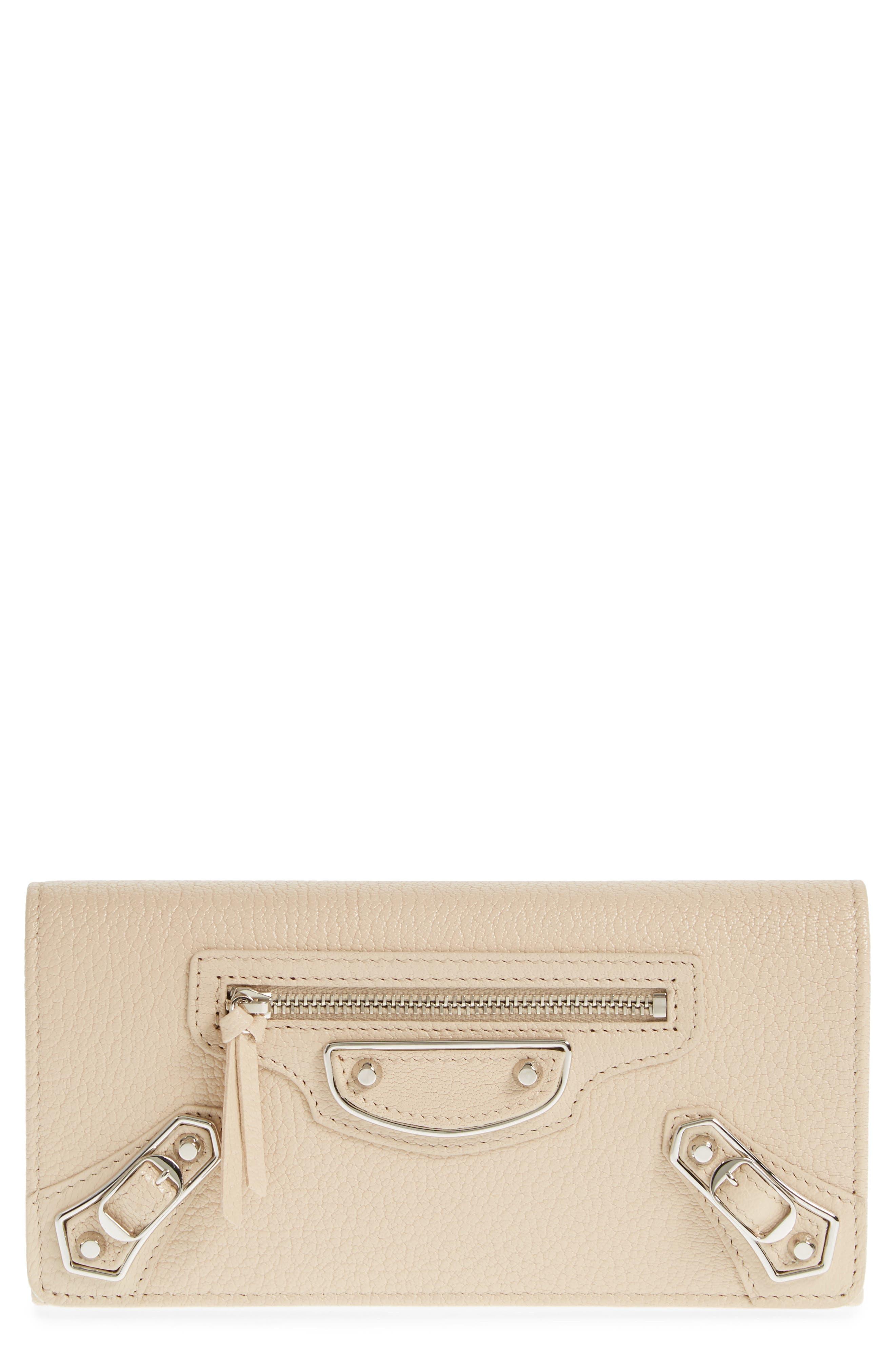 Alternate Image 1 Selected - Balenciaga Metallic Edge Money Leather Wallet