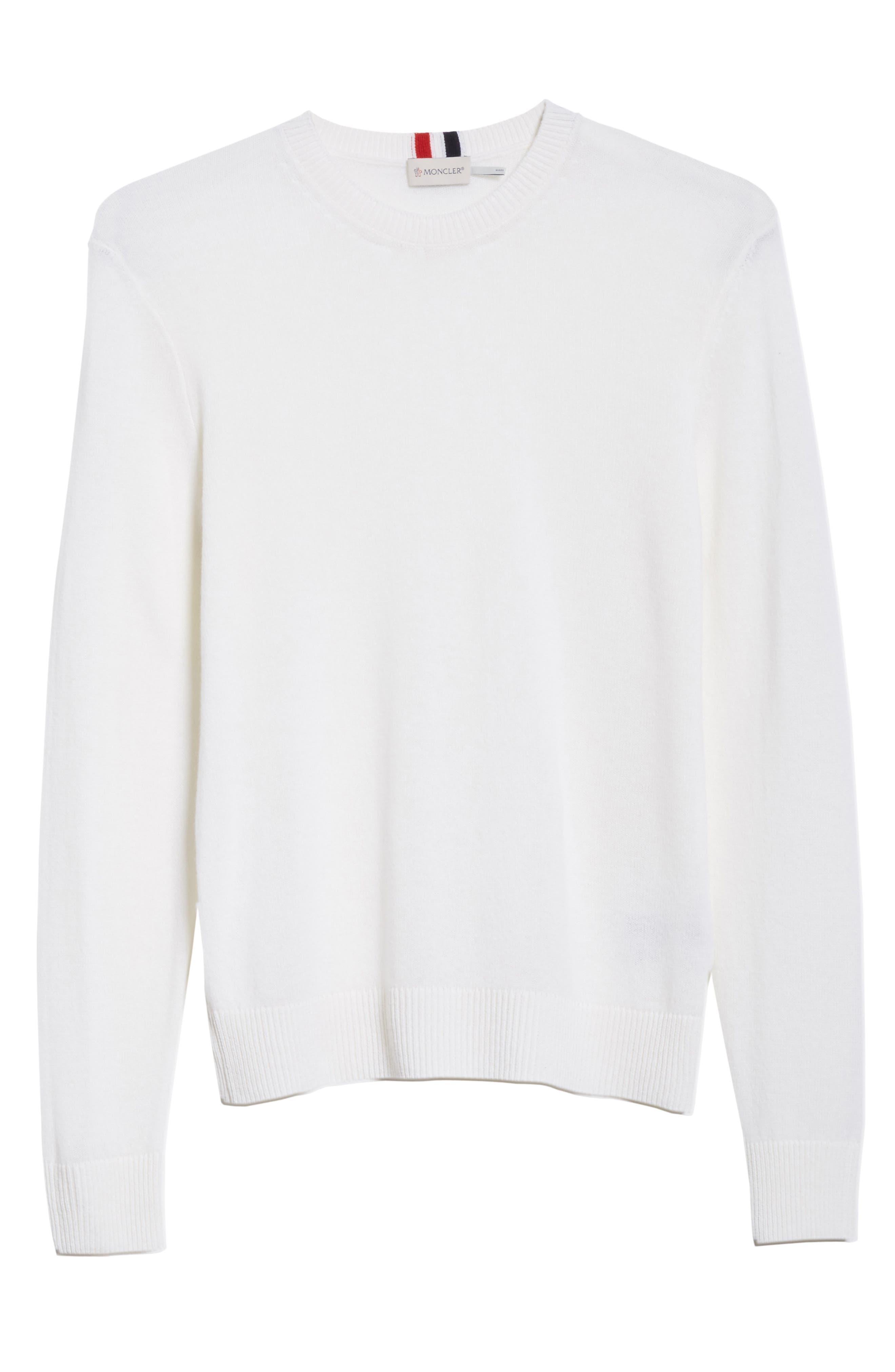 Cashmere Crewneck Sweater,                             Alternate thumbnail 6, color,                             White