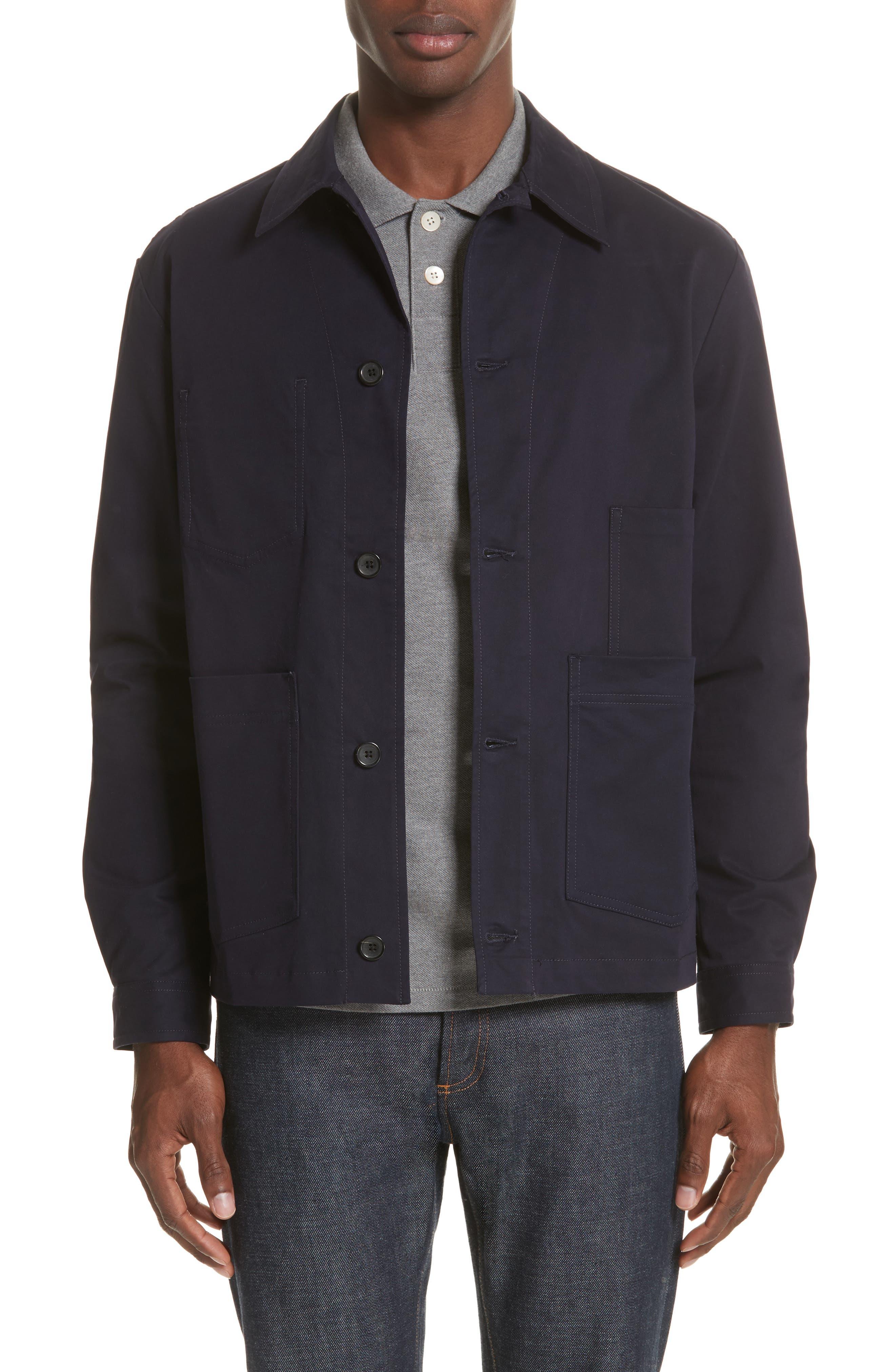 Work Jacket,                             Main thumbnail 1, color,                             Blue