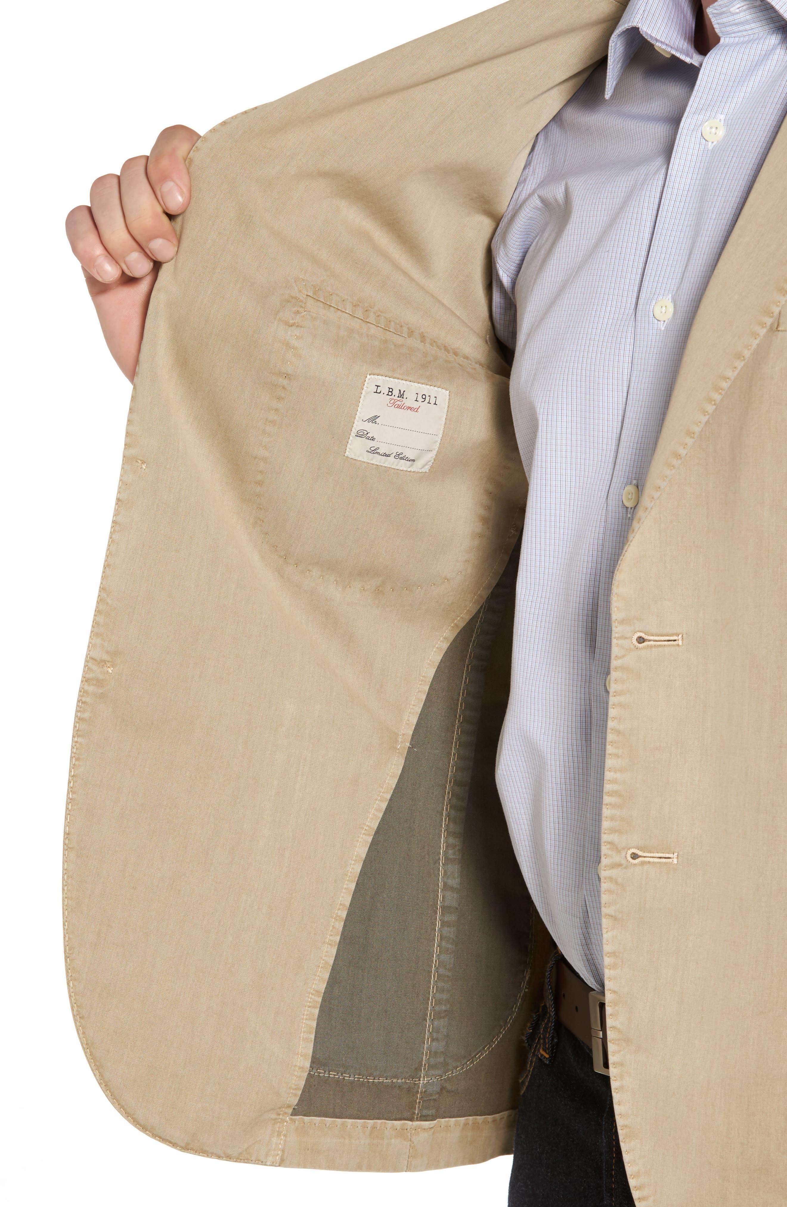 Classic Fit Cotton & Silk Blazer,                             Alternate thumbnail 4, color,                             Beige/ Khaki