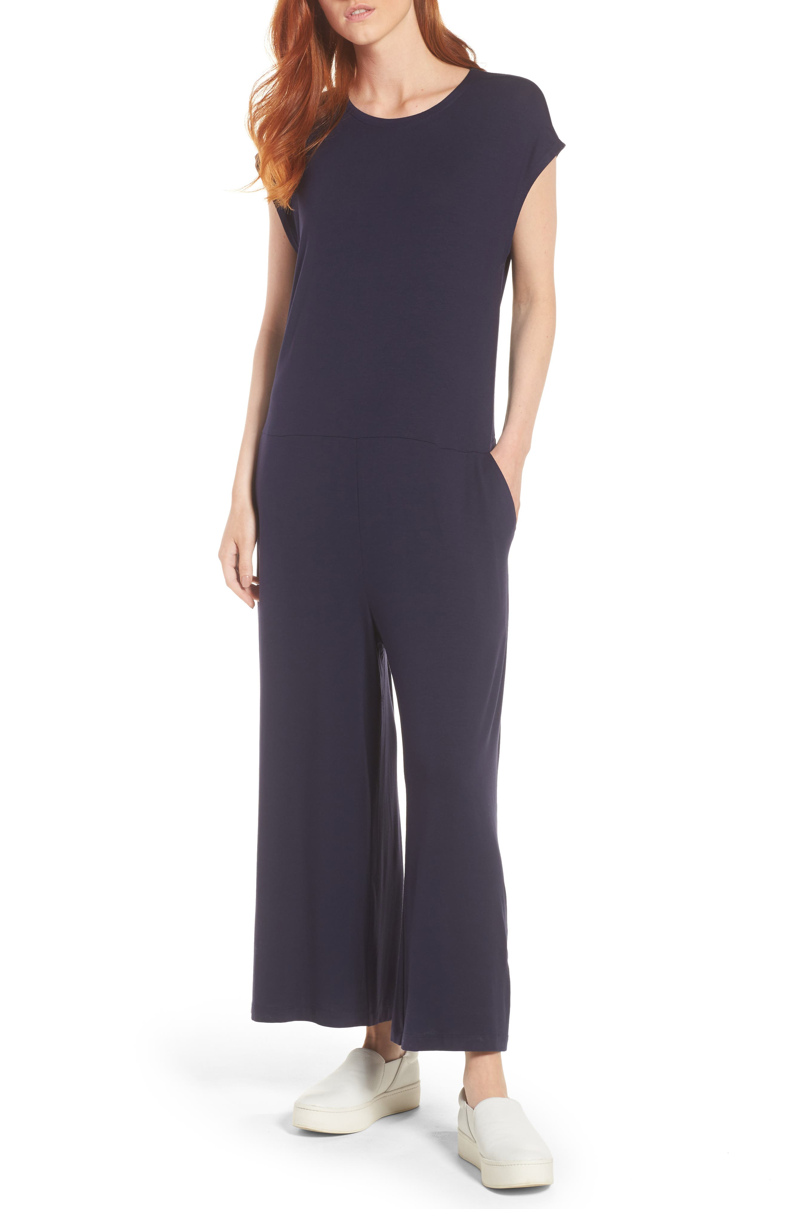 Eileen Fisher Cropped Wide Leg Jumpsuit