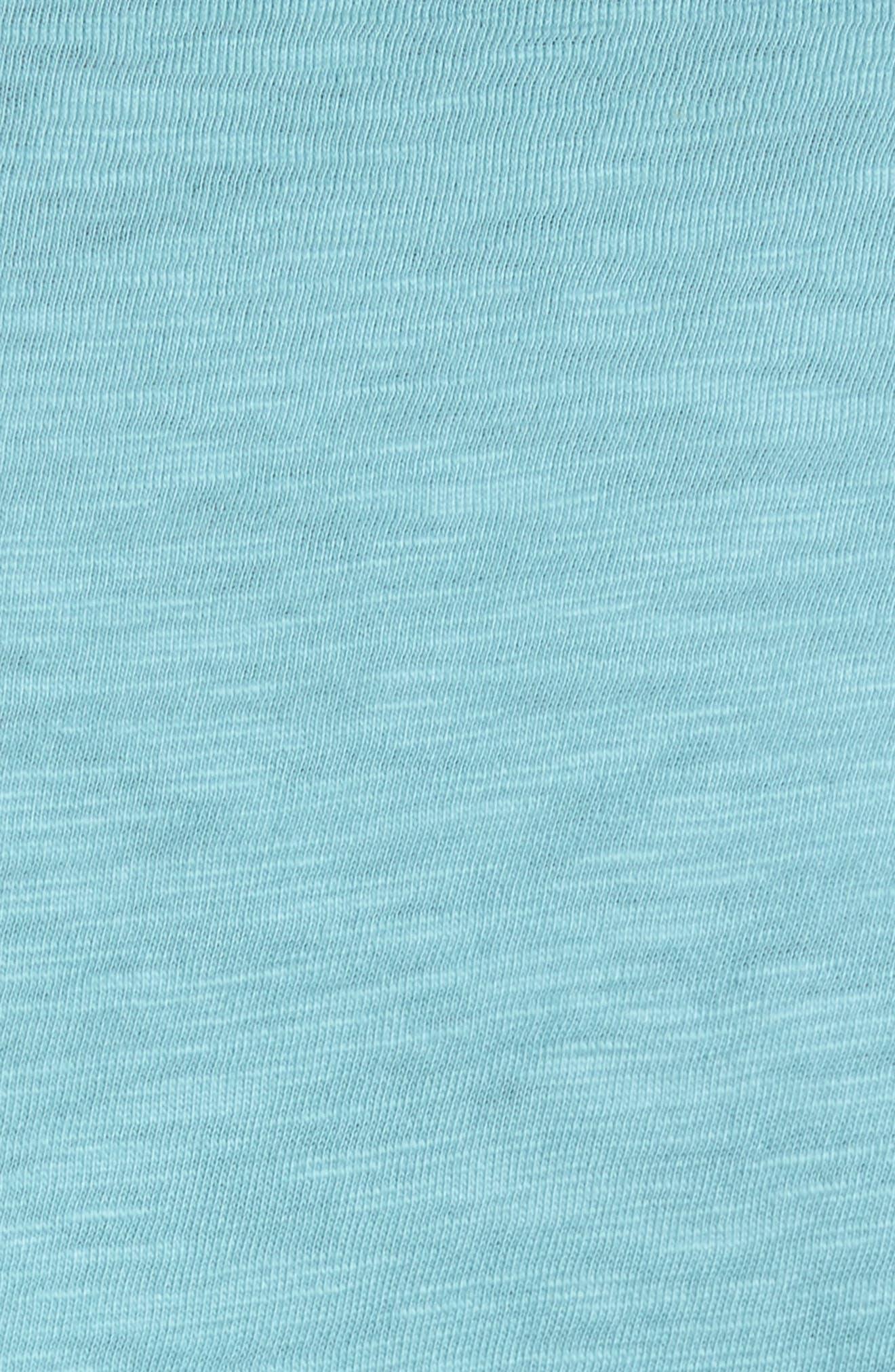 Slim Fit Slub Cotton T-Shirt,                             Alternate thumbnail 5, color,                             Harbor