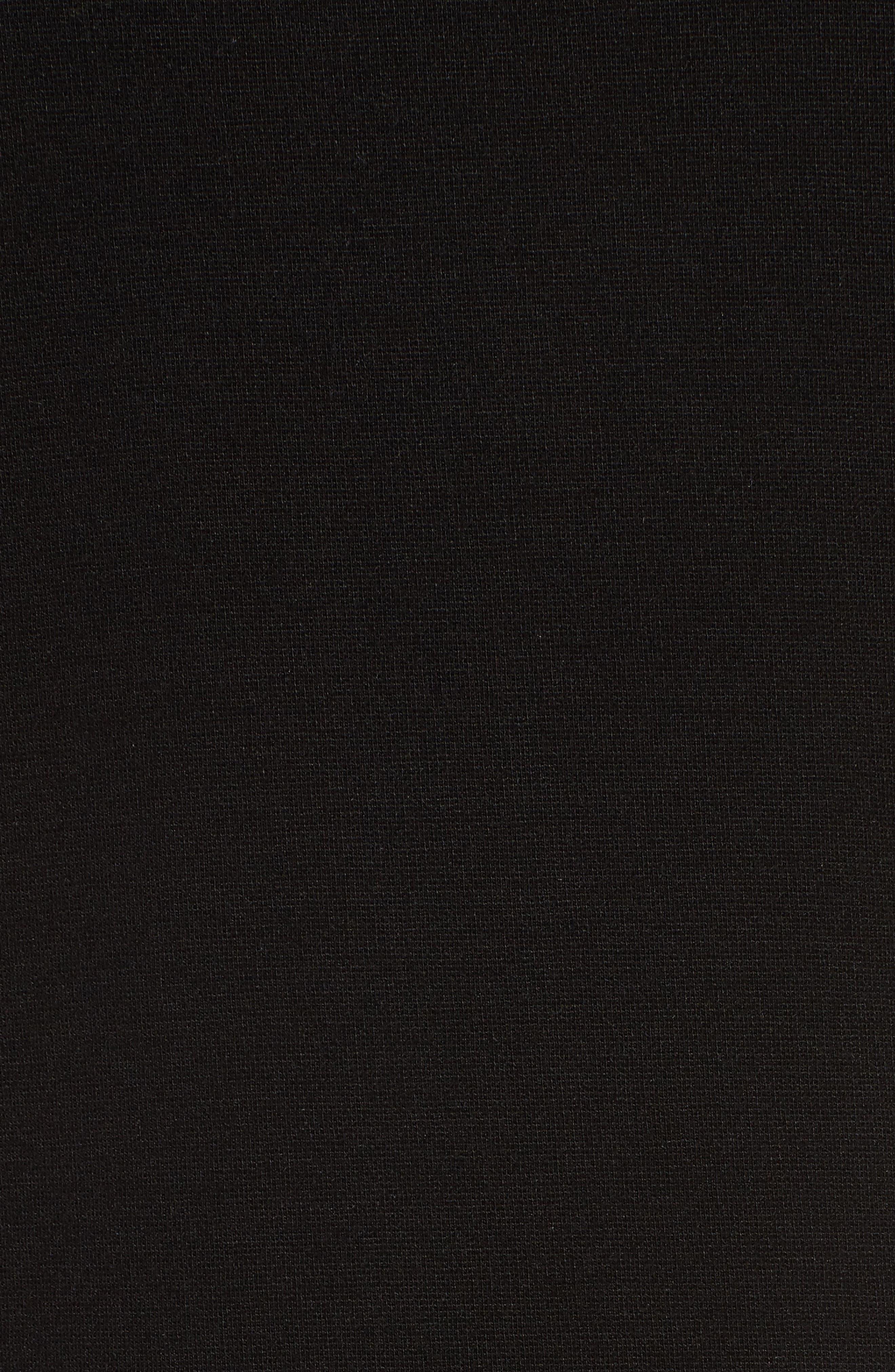 Tencel<sup>®</sup> Lyocell Blend Knit Shift Dress,                             Alternate thumbnail 5, color,                             Black