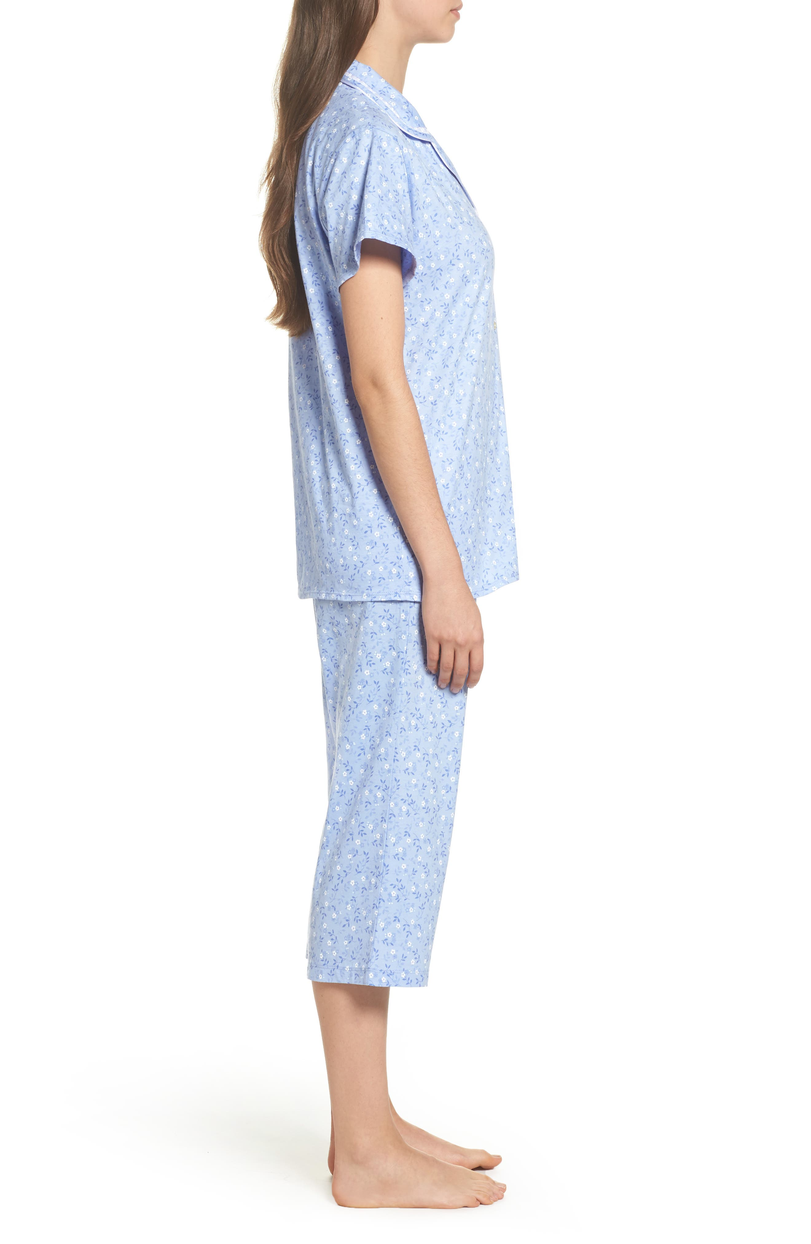 Alternate Image 3  - Eileen West Jersey Pajamas