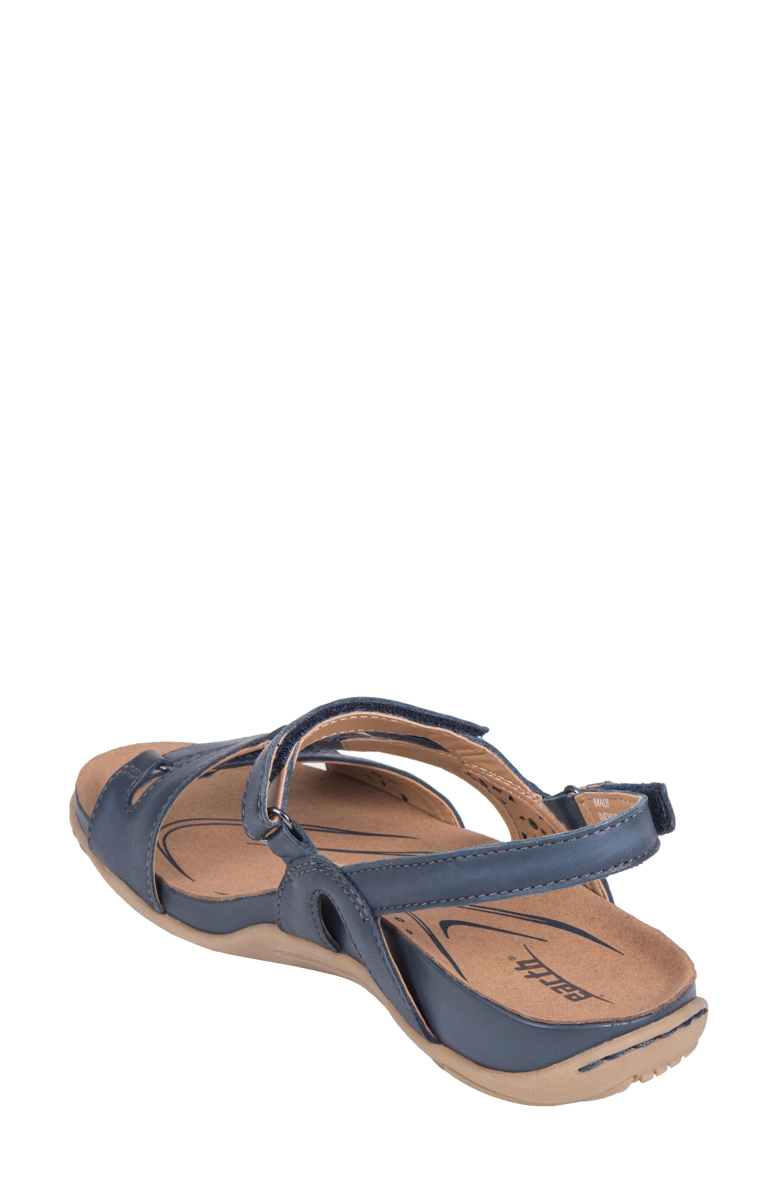 Maui Strappy Sandal,                             Alternate thumbnail 2, color,                             Indigo Blue Leather