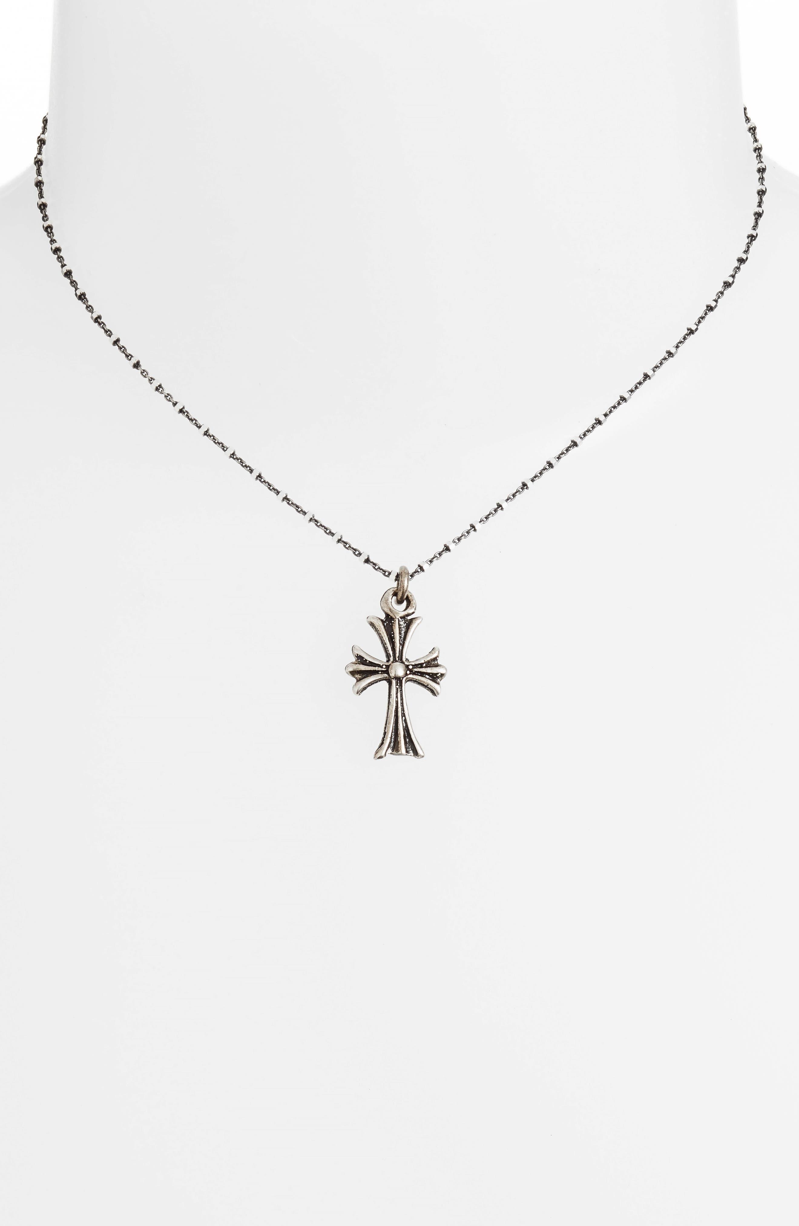 Engraved Pendant Necklace,                             Alternate thumbnail 2, color,                             Silver