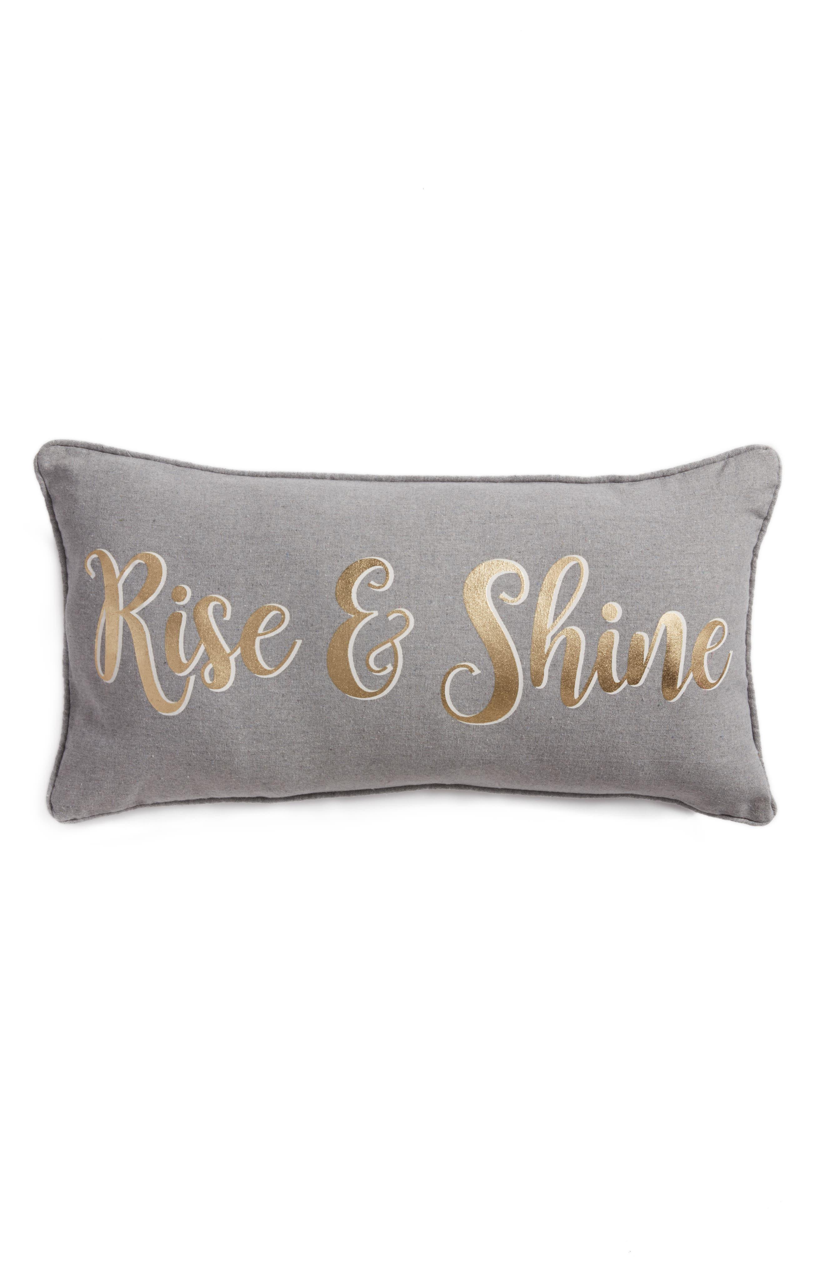 Arden Rise & Shine Accent Pillow,                             Main thumbnail 1, color,                             Grey