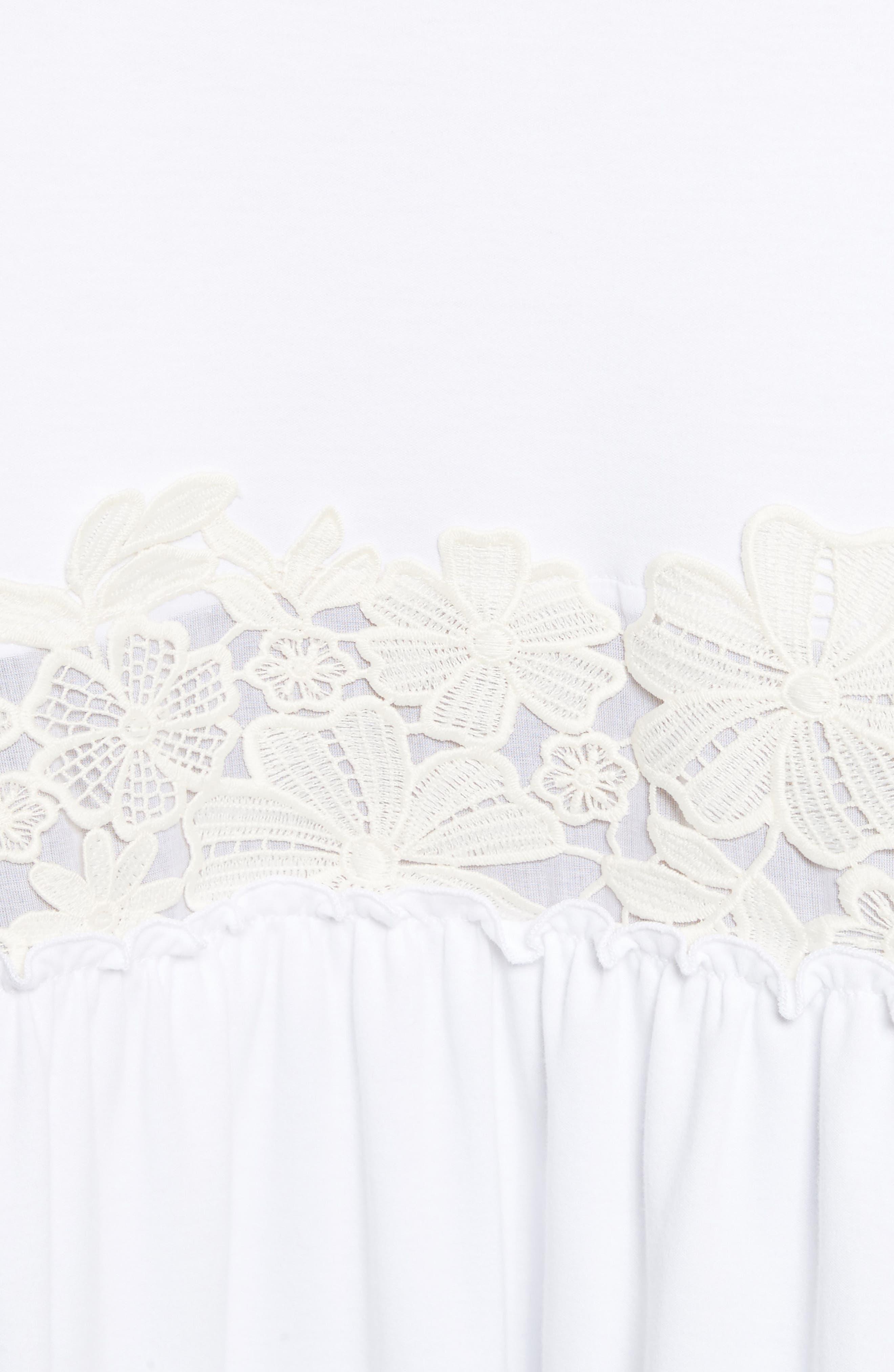 Crochet Panel Dress,                             Alternate thumbnail 5, color,                             White