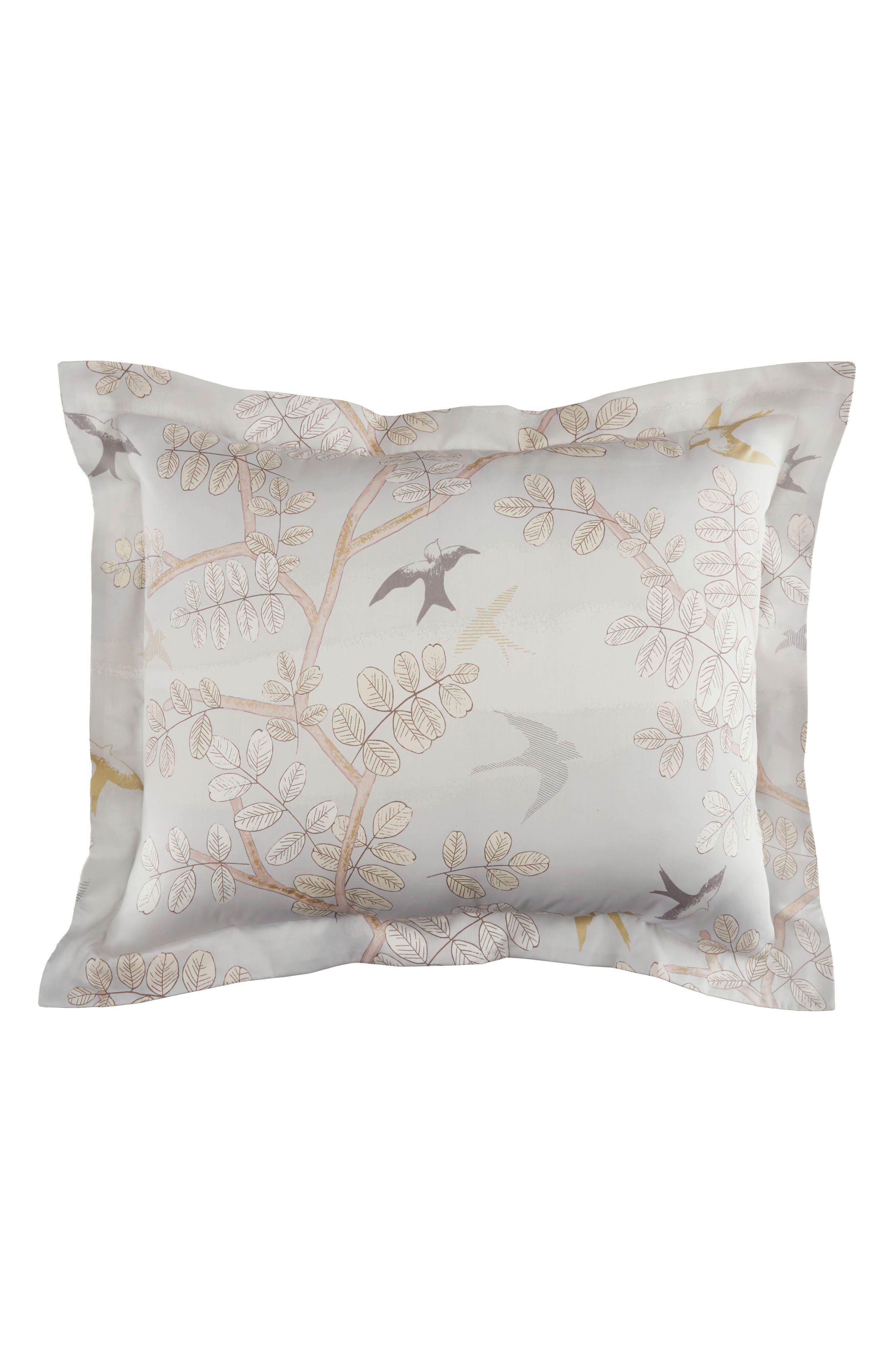 Margot 300 Thread Count Pair of Pillow Shams,                         Main,                         color, Light/ Pastel Grey
