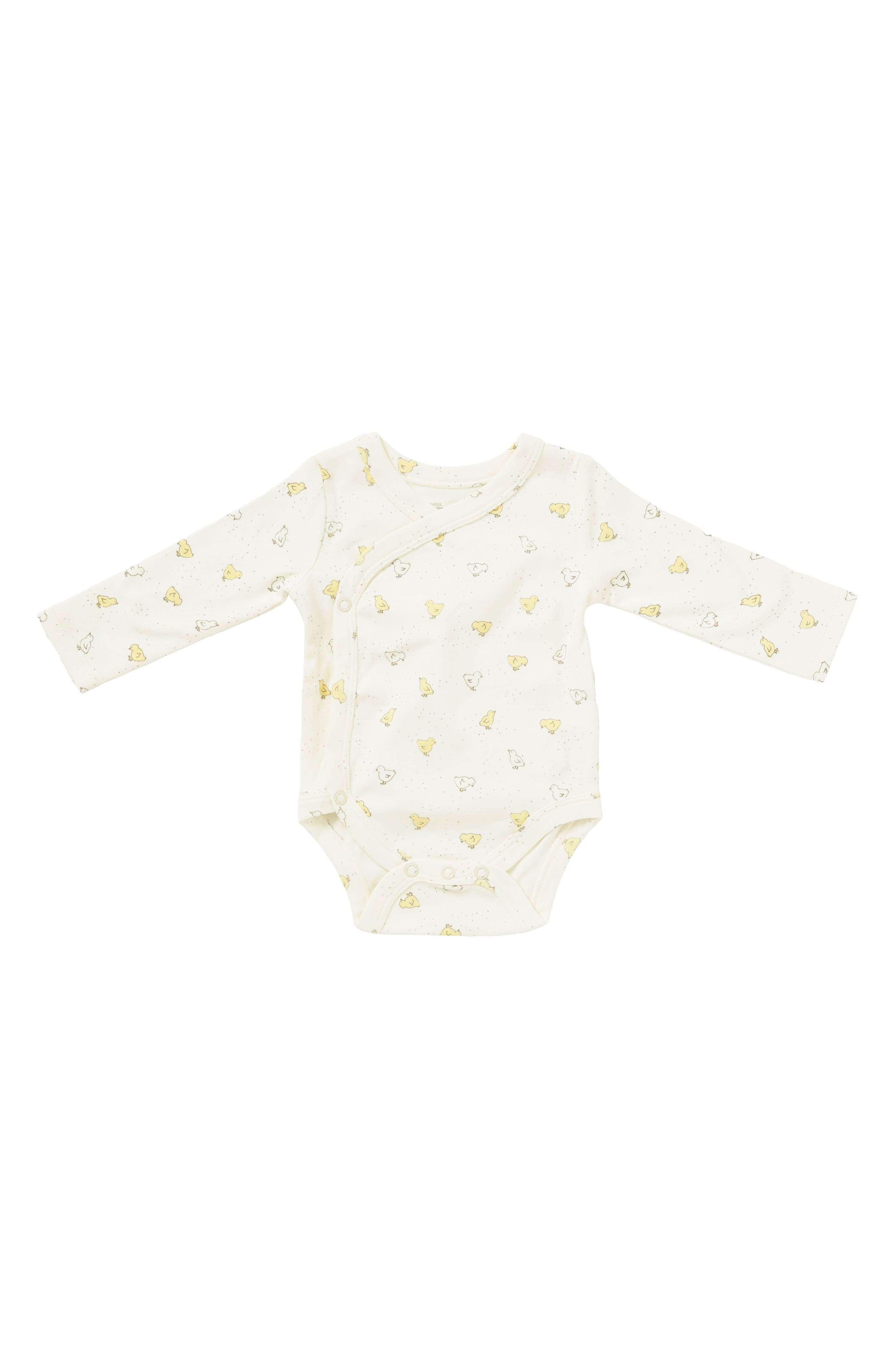 Baby Chick Bodysuit,                         Main,                         color, Ivory