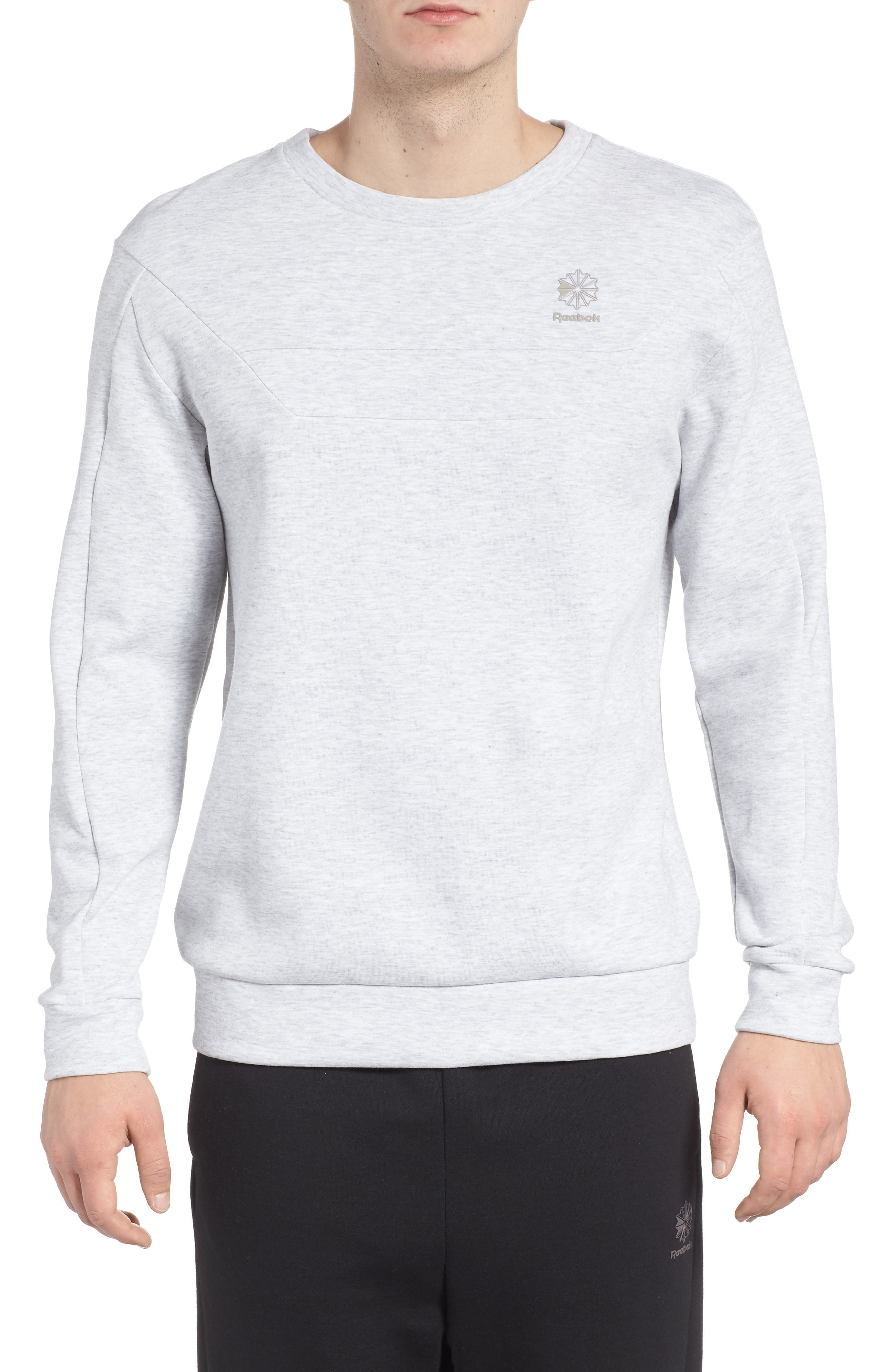 Double Sweatshirt,                             Main thumbnail 1, color,                             Light Grey Heather