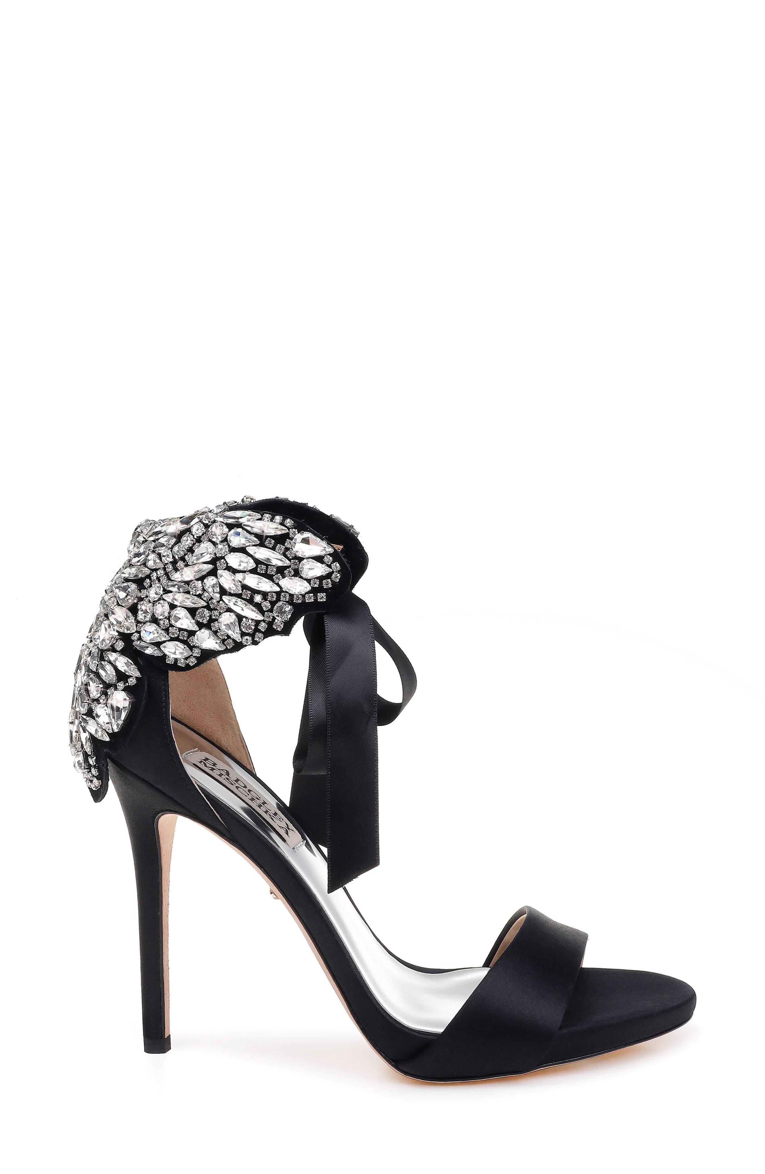 Alternate Image 3  - Badgley Mischka Hilda Crystal Embellished Sandal (Women)