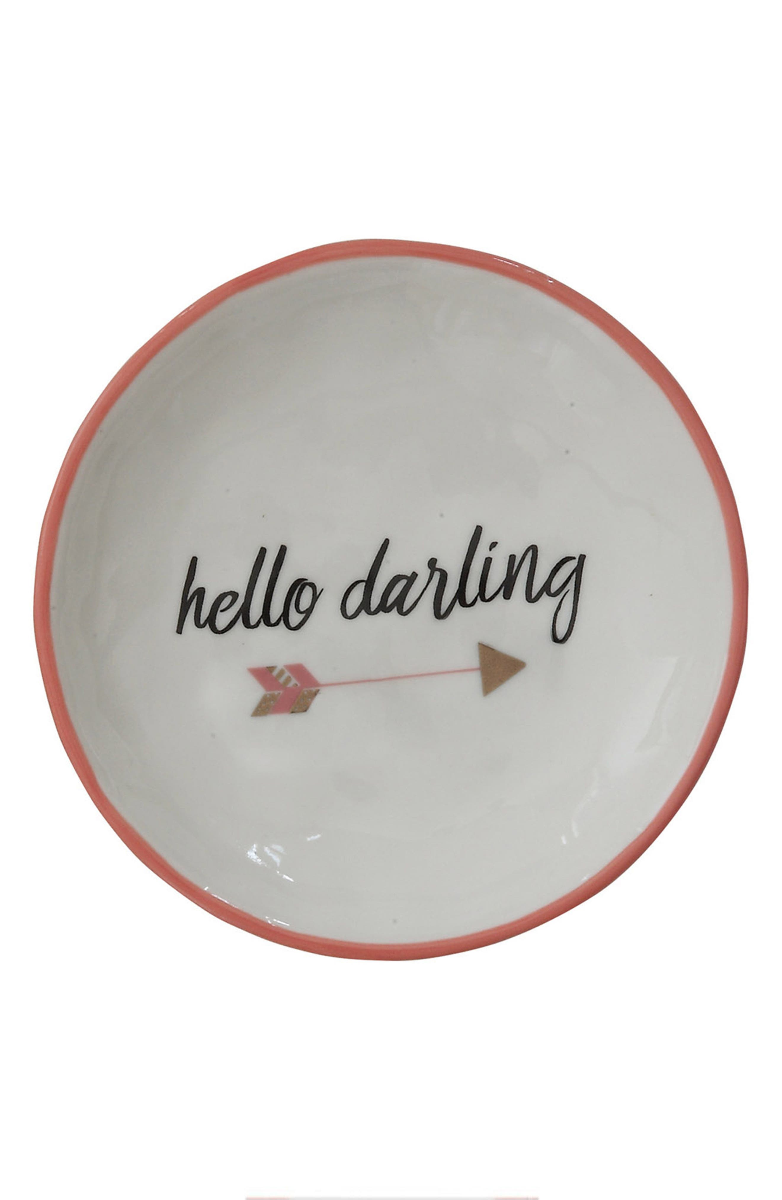 Creative Co-Op Hello Darling Stoneware Plate