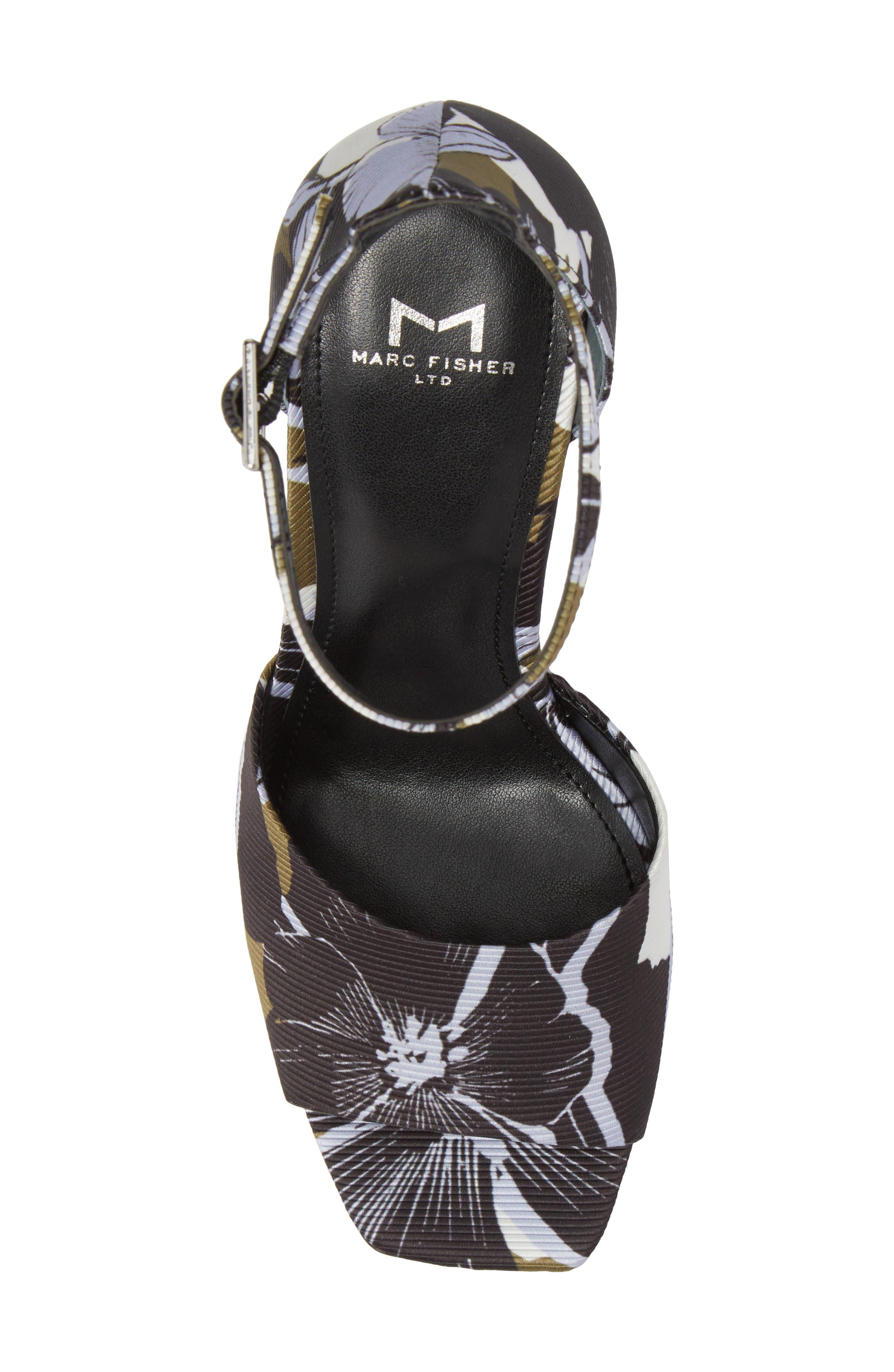 Harlin Ankle Strap Sandal,                             Alternate thumbnail 5, color,                             Jungle Print Fabric