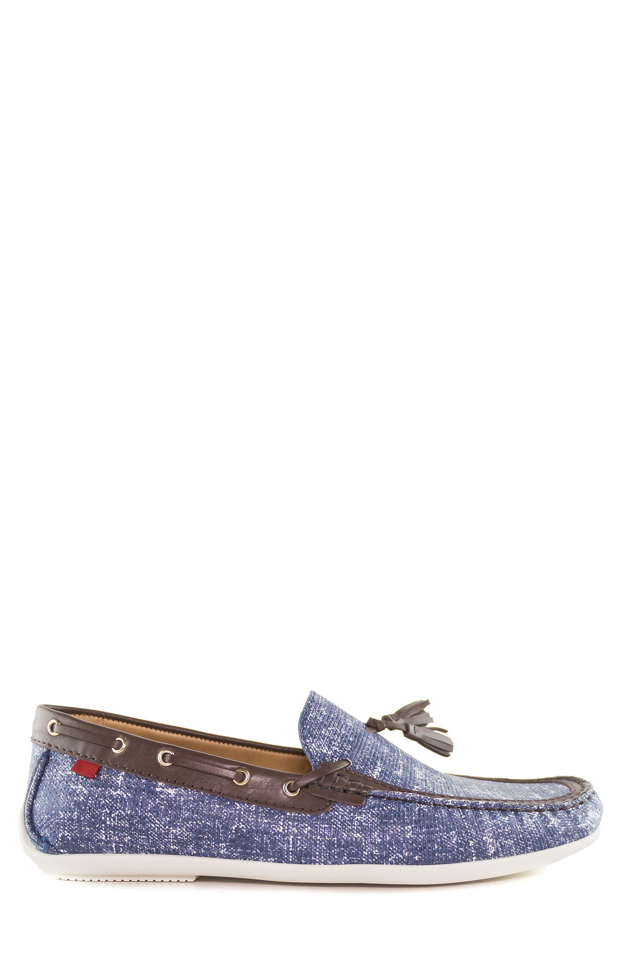 Bushwick Tasseled Driving Loafer,                             Alternate thumbnail 3, color,                             Jeans Blue
