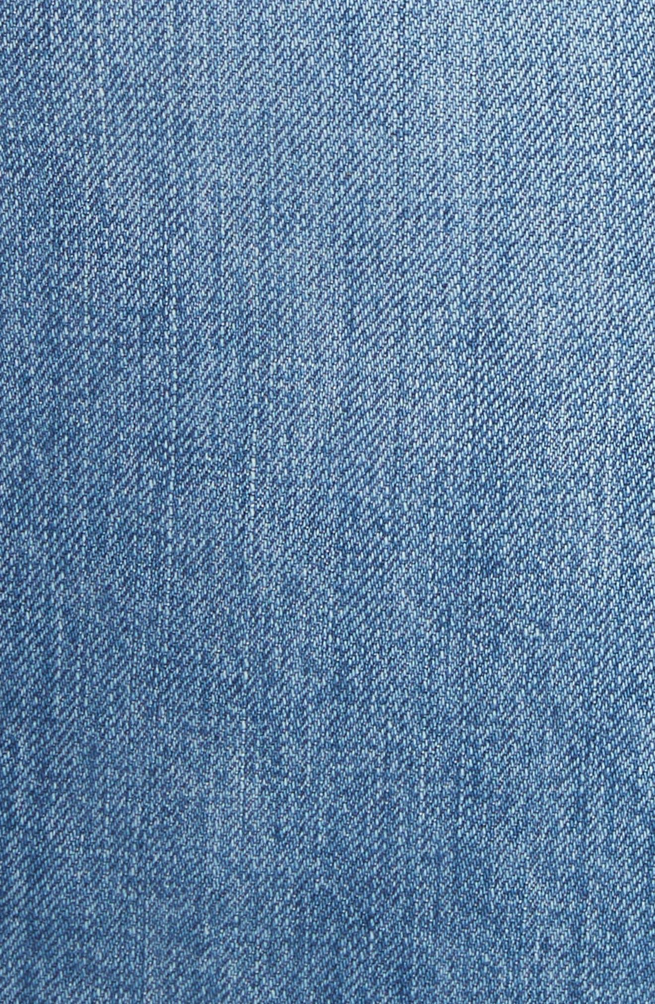 Alternate Image 5  - rag & bone/JEAN Moss High Waist Denim Miniskirt (Clean Levee)