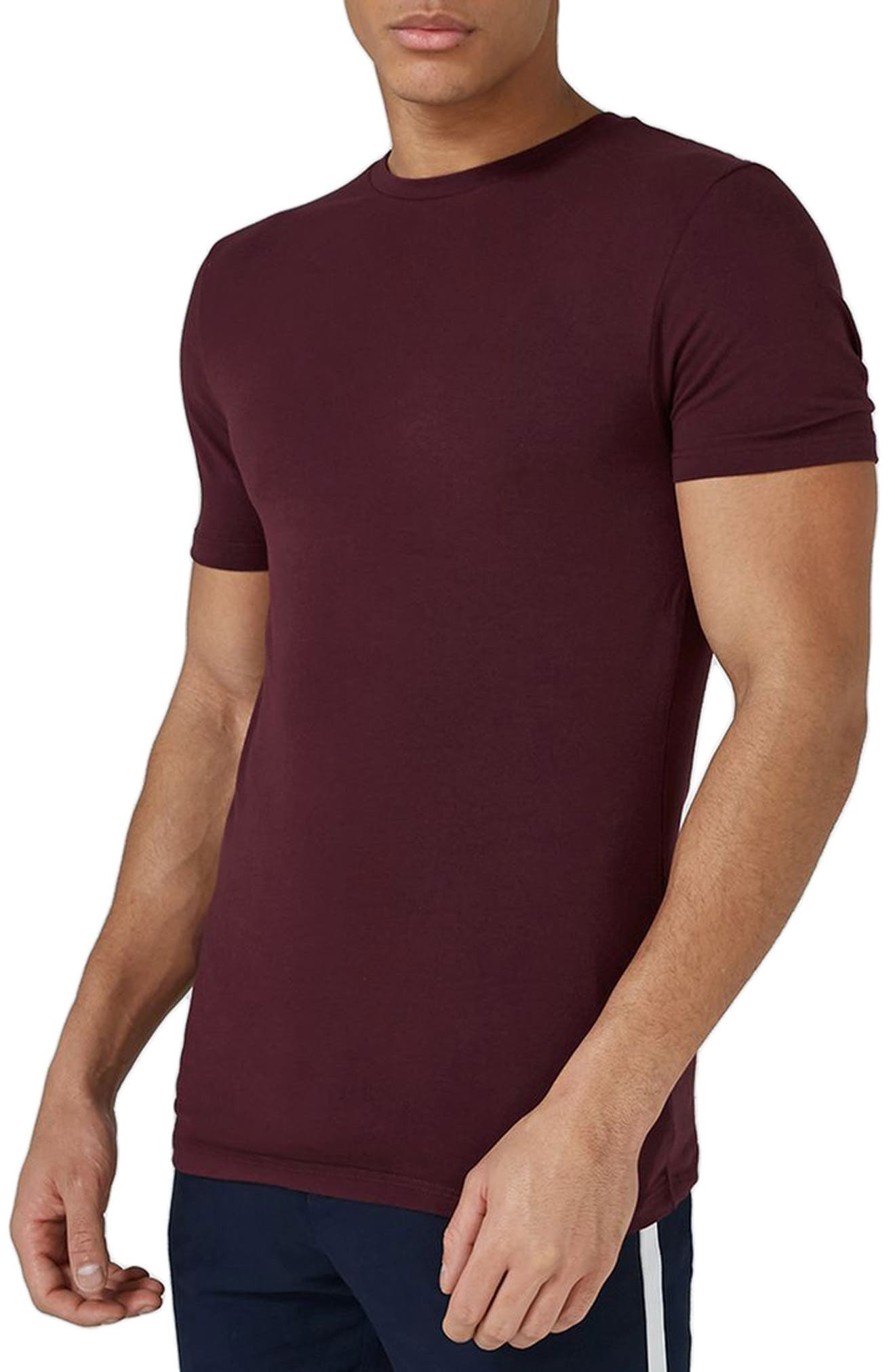 Ultra Muscle Fit T-Shirt,                         Main,                         color, Burgundy