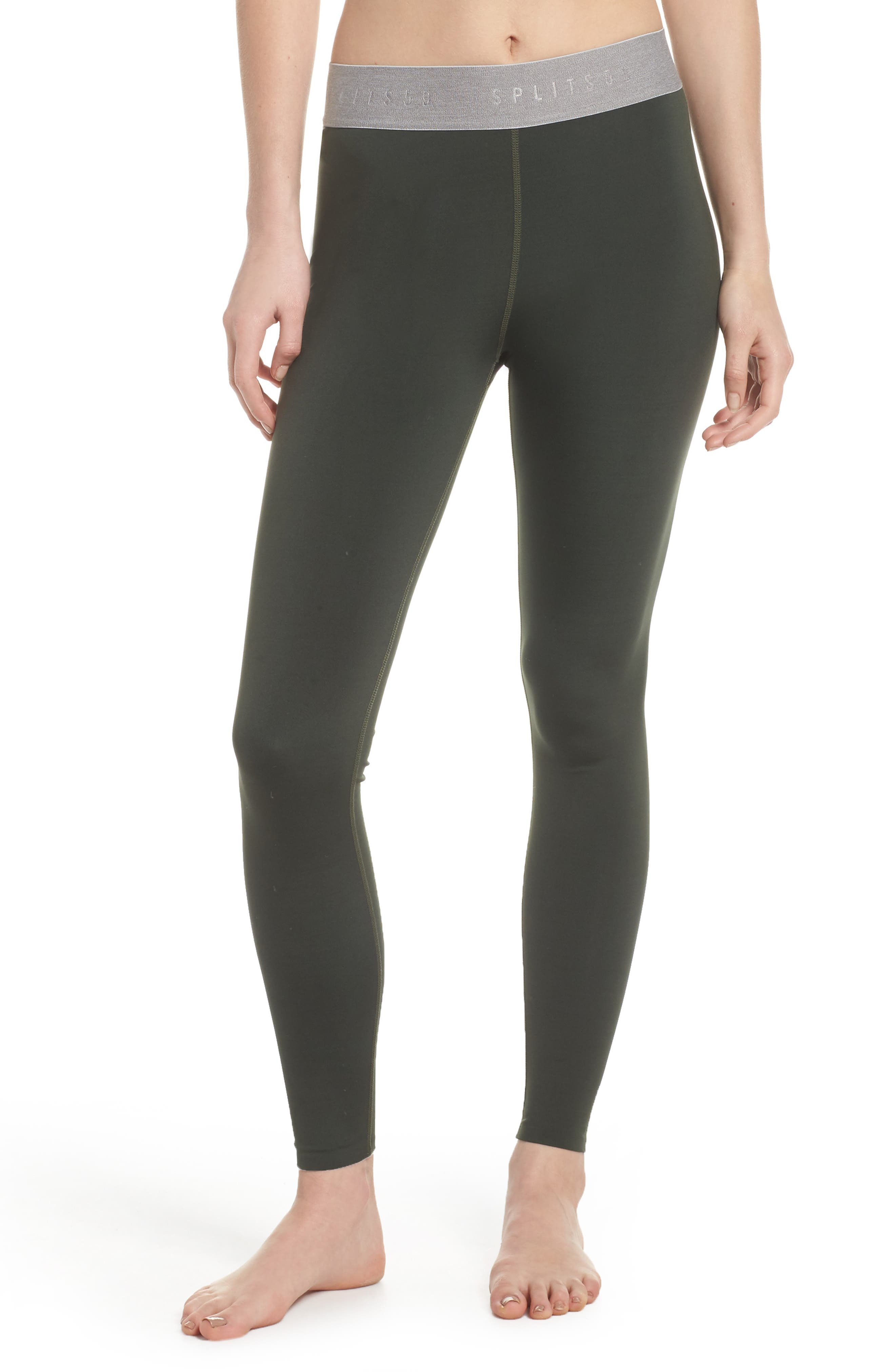 Tempo Ankle Tights,                             Main thumbnail 1, color,                             Army