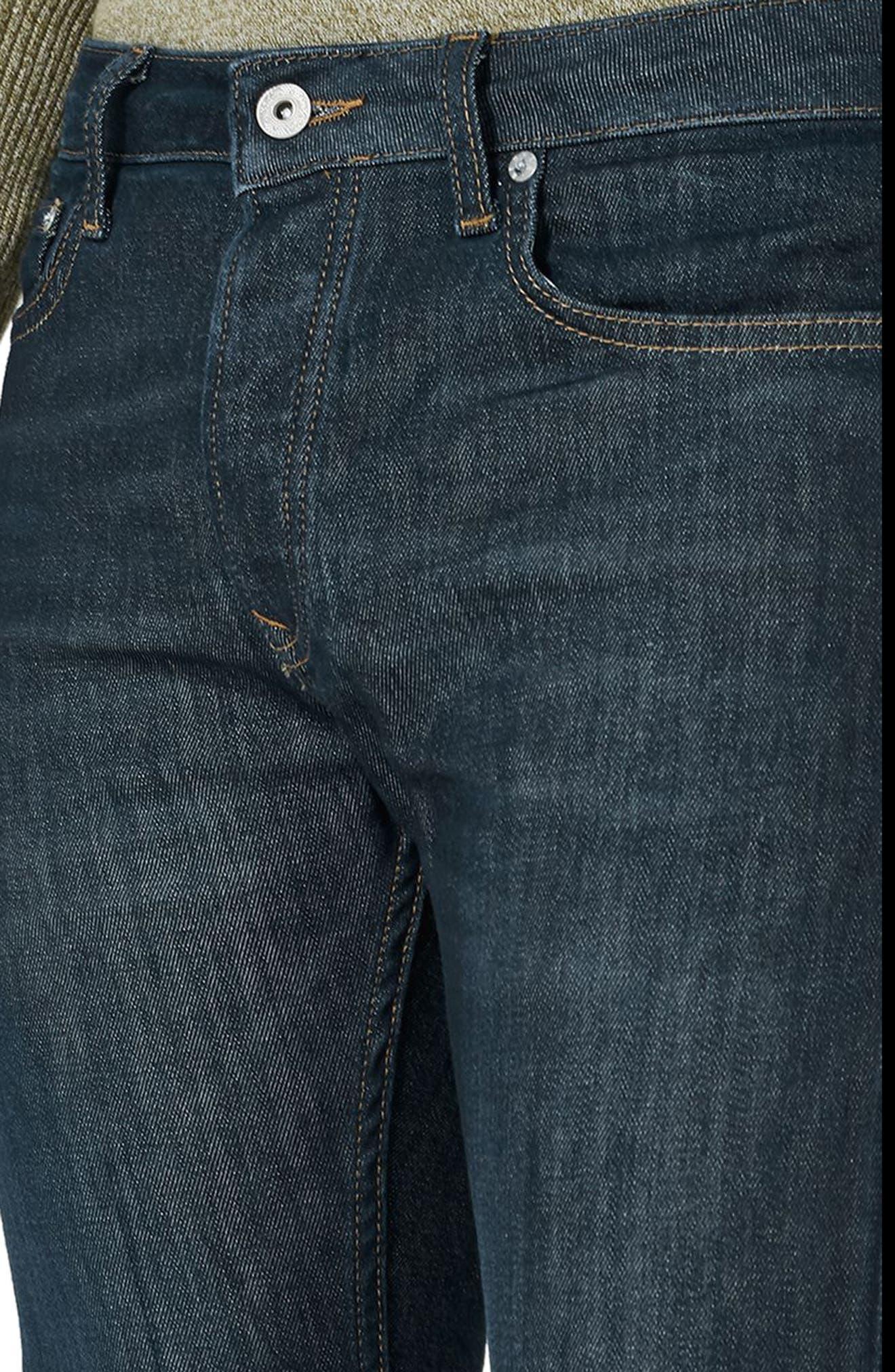 Coated Denim Skinny Jeans,                             Alternate thumbnail 3, color,                             Blue
