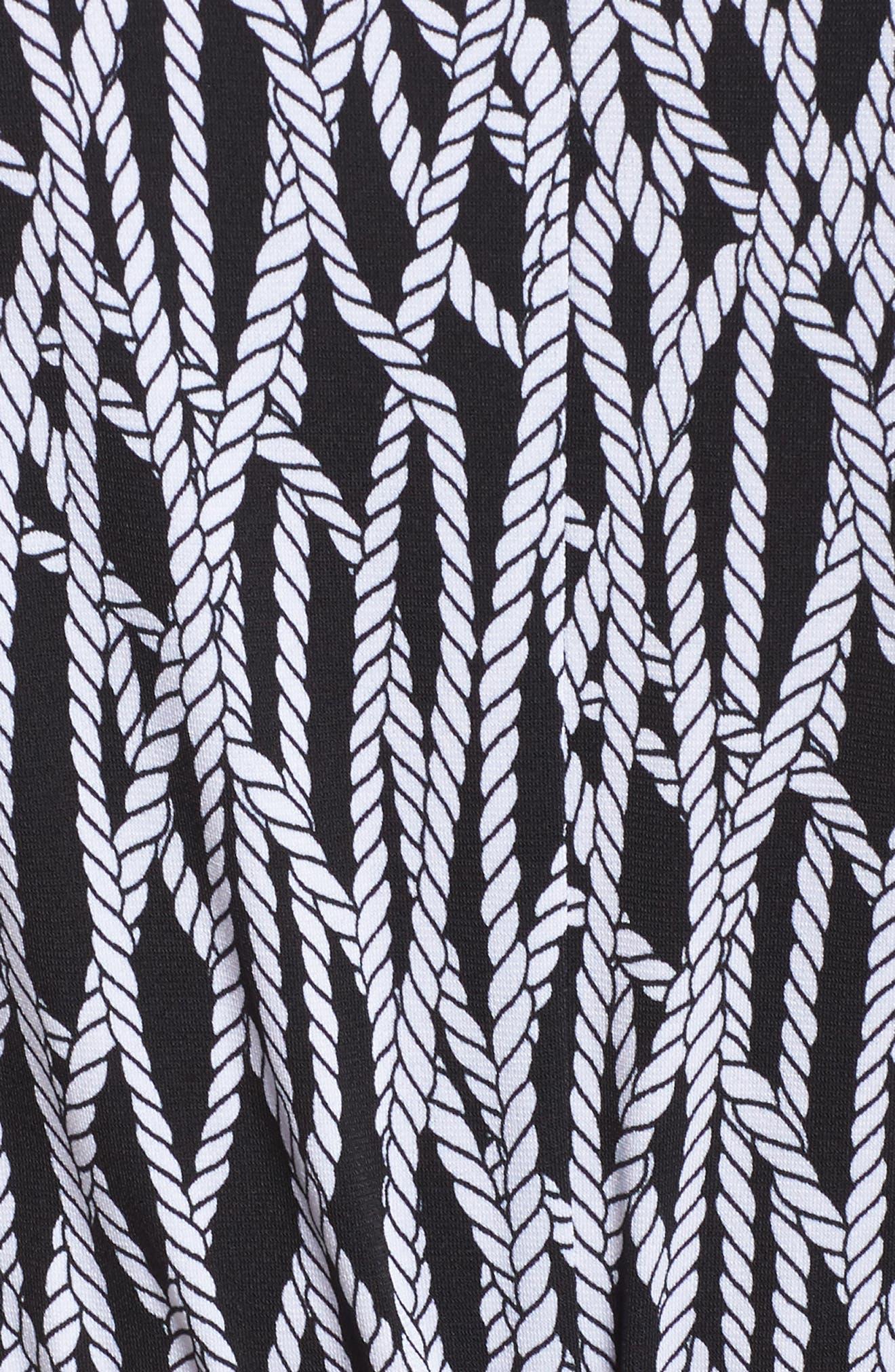 Chained Keyhole Neck Jumpsuit,                             Alternate thumbnail 5, color,                             Black/ White