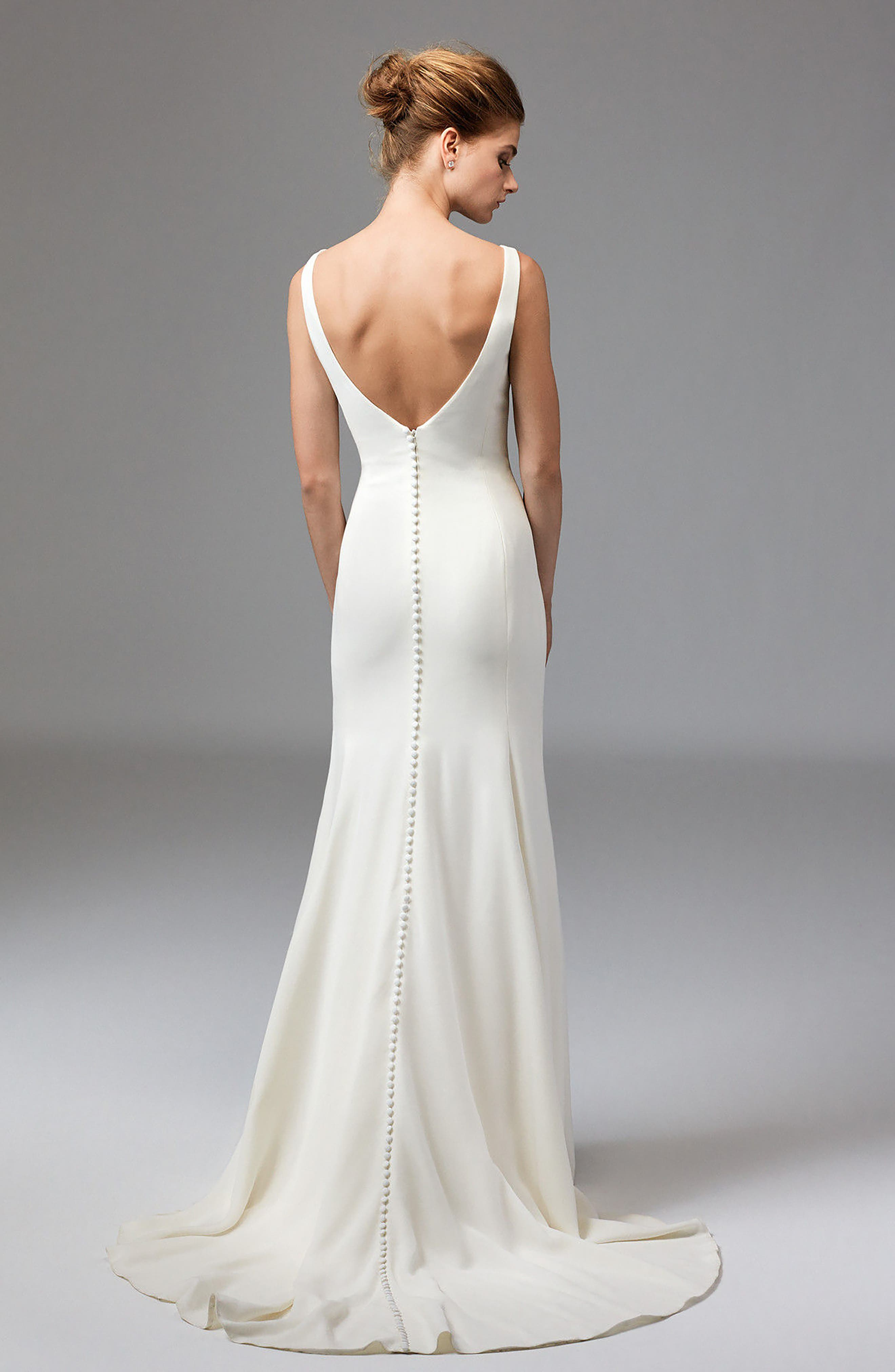Leona Sleeveless Silk Gown,                             Alternate thumbnail 2, color,                             Ivory