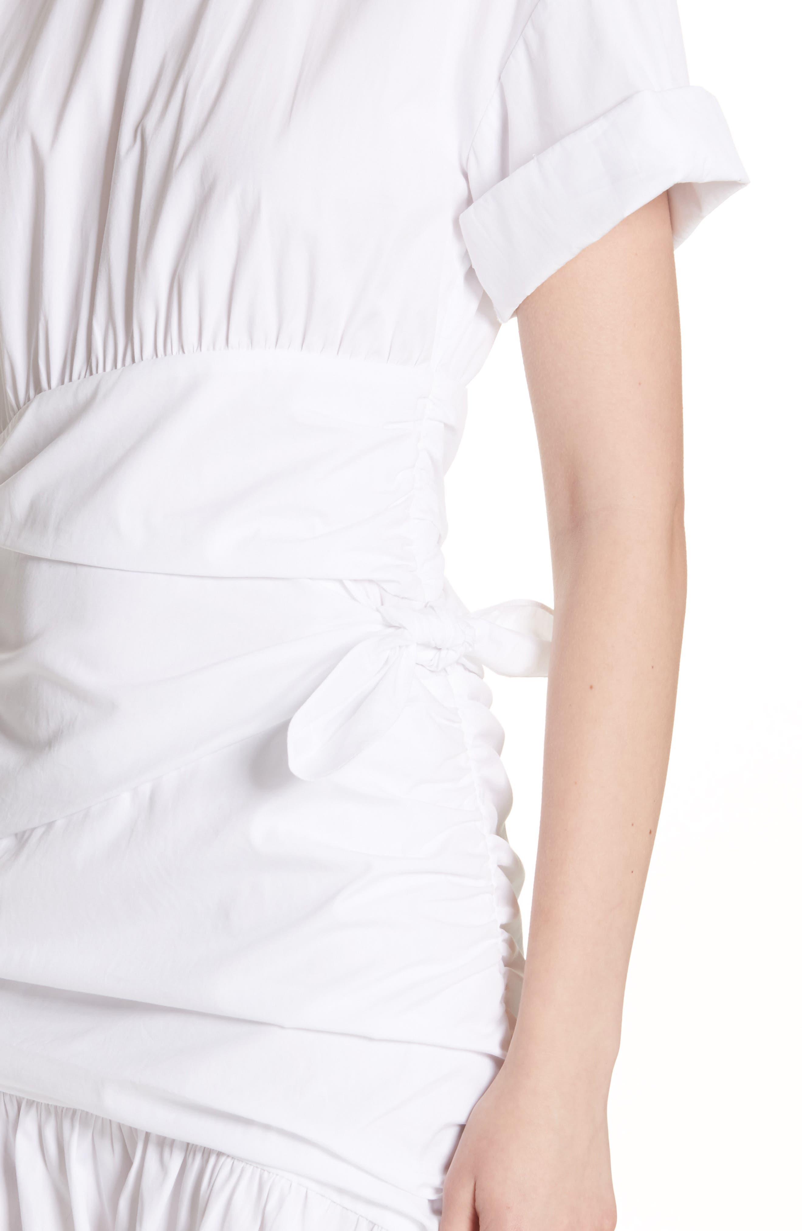 Cassian Cotton Dress,                             Alternate thumbnail 4, color,                             White