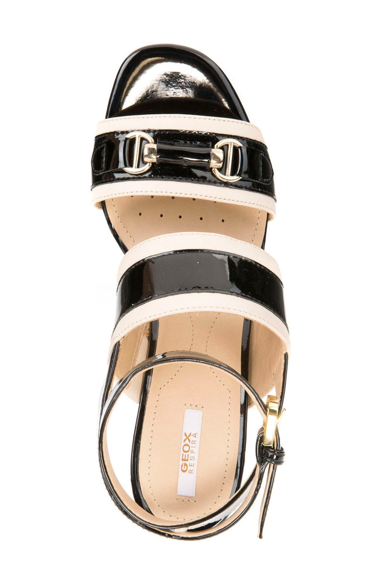 Audalie 6 Sandal,                             Alternate thumbnail 4, color,                             Black Leather
