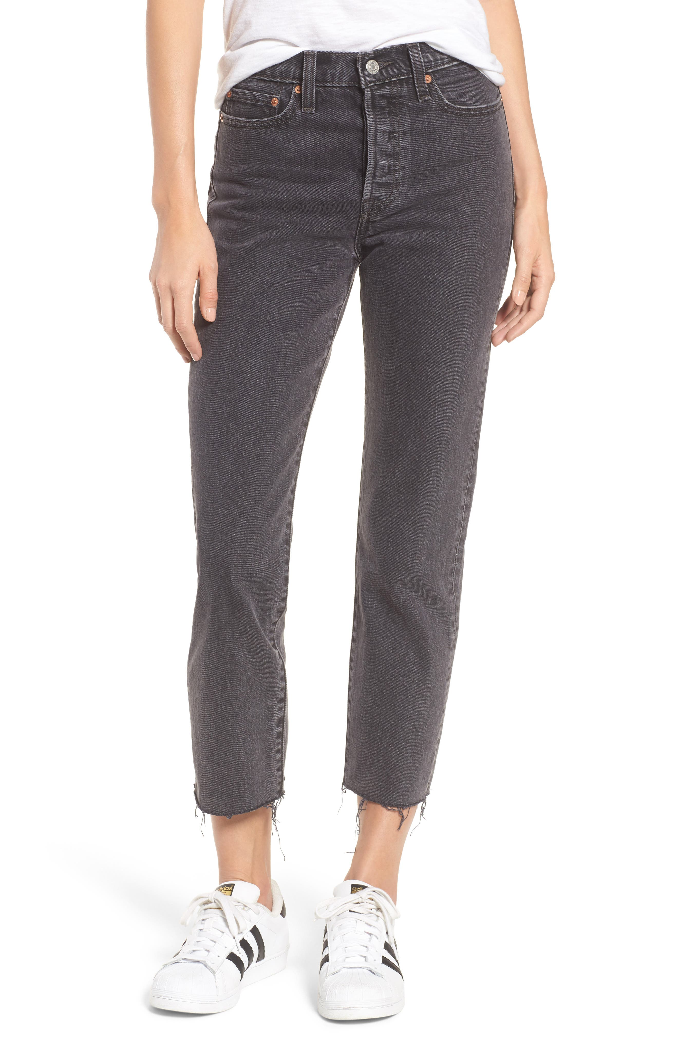 Wedgie High Waist Ankle Straight Leg Jeans,                         Main,                         color, That Girl