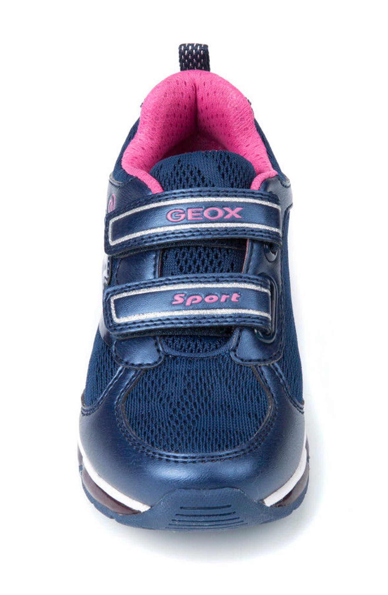 Android Light-Up Sneaker,                             Alternate thumbnail 4, color,                             Navy/ Fuchsia