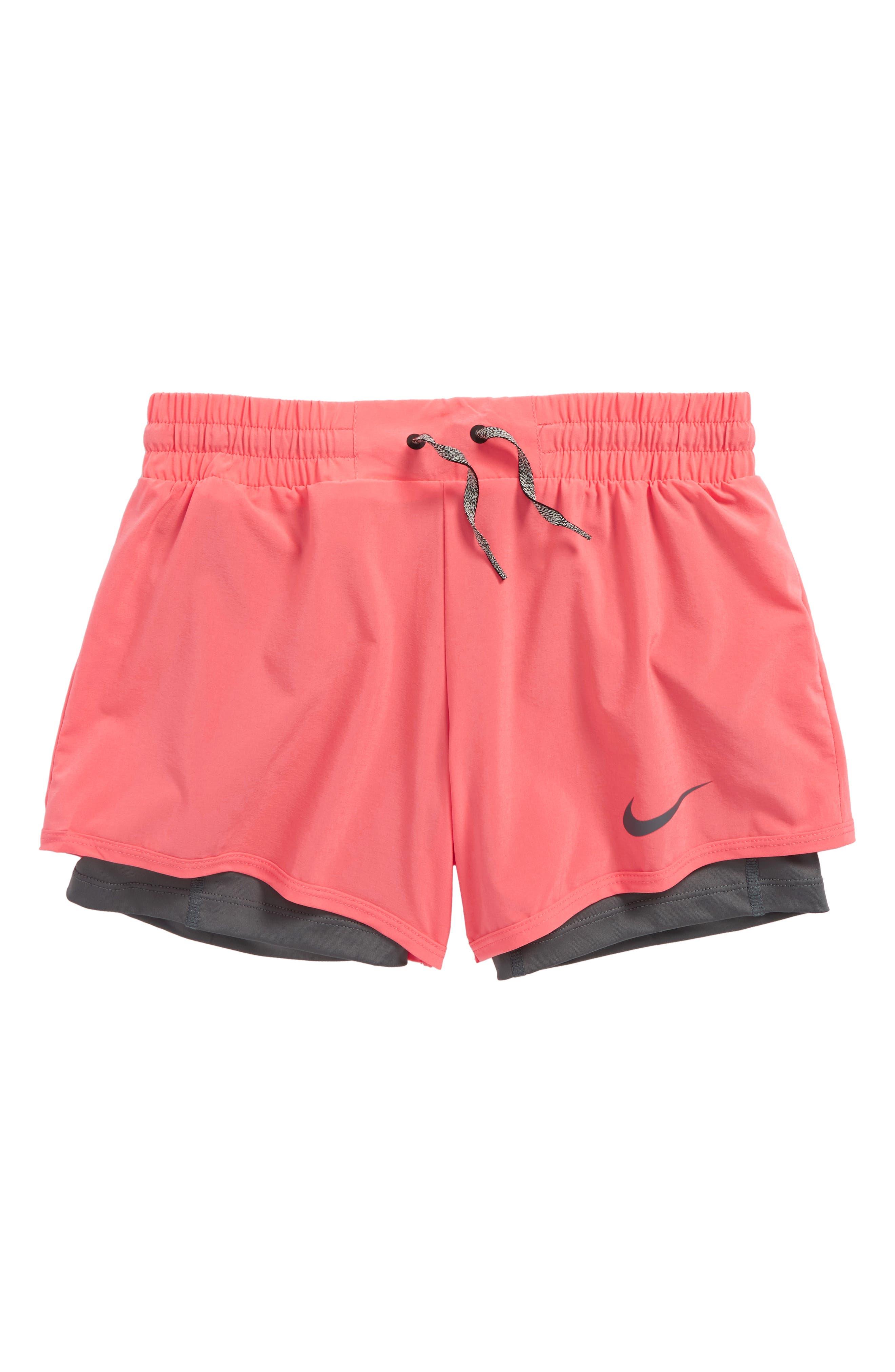 Nike 2-in-1 Training Shorts (Big Girls)