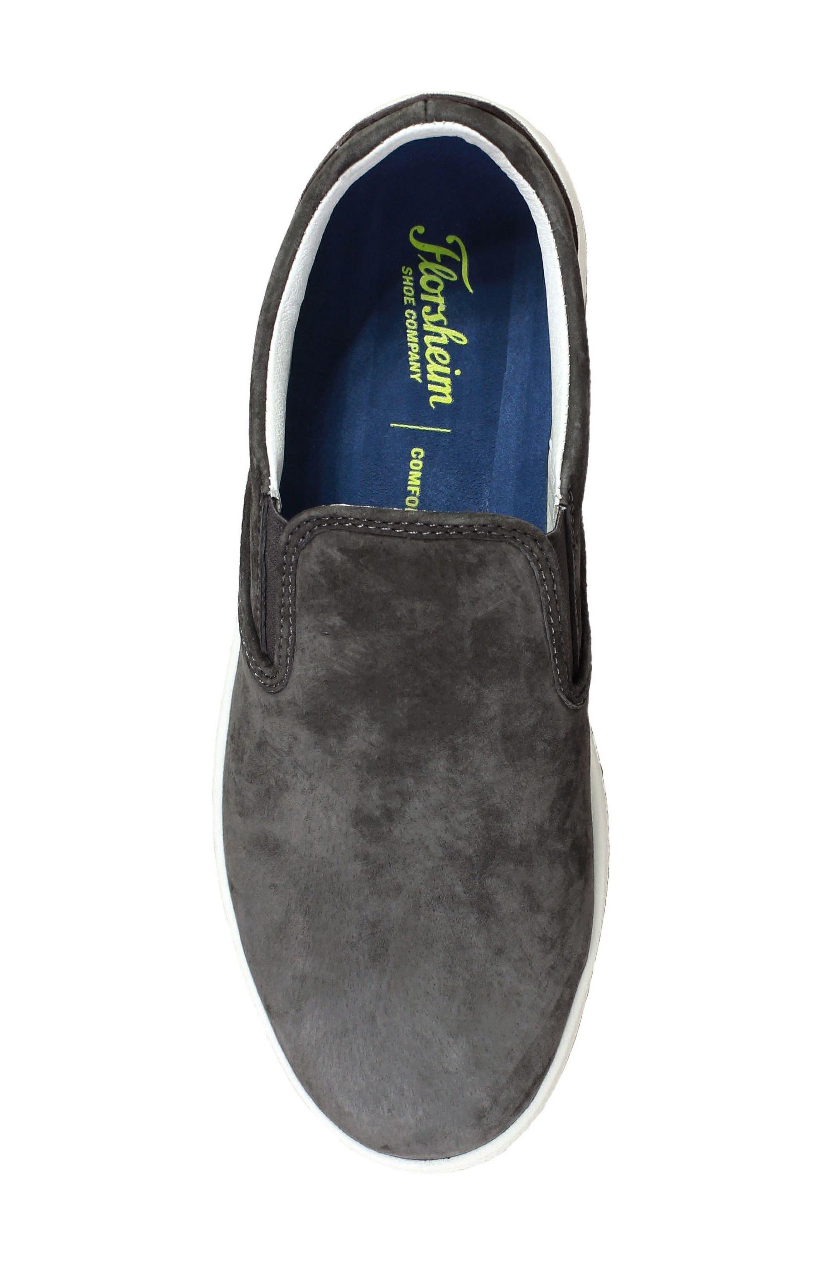 Edge Slip-On Sneaker,                             Alternate thumbnail 5, color,                             Charcoal Nubuck