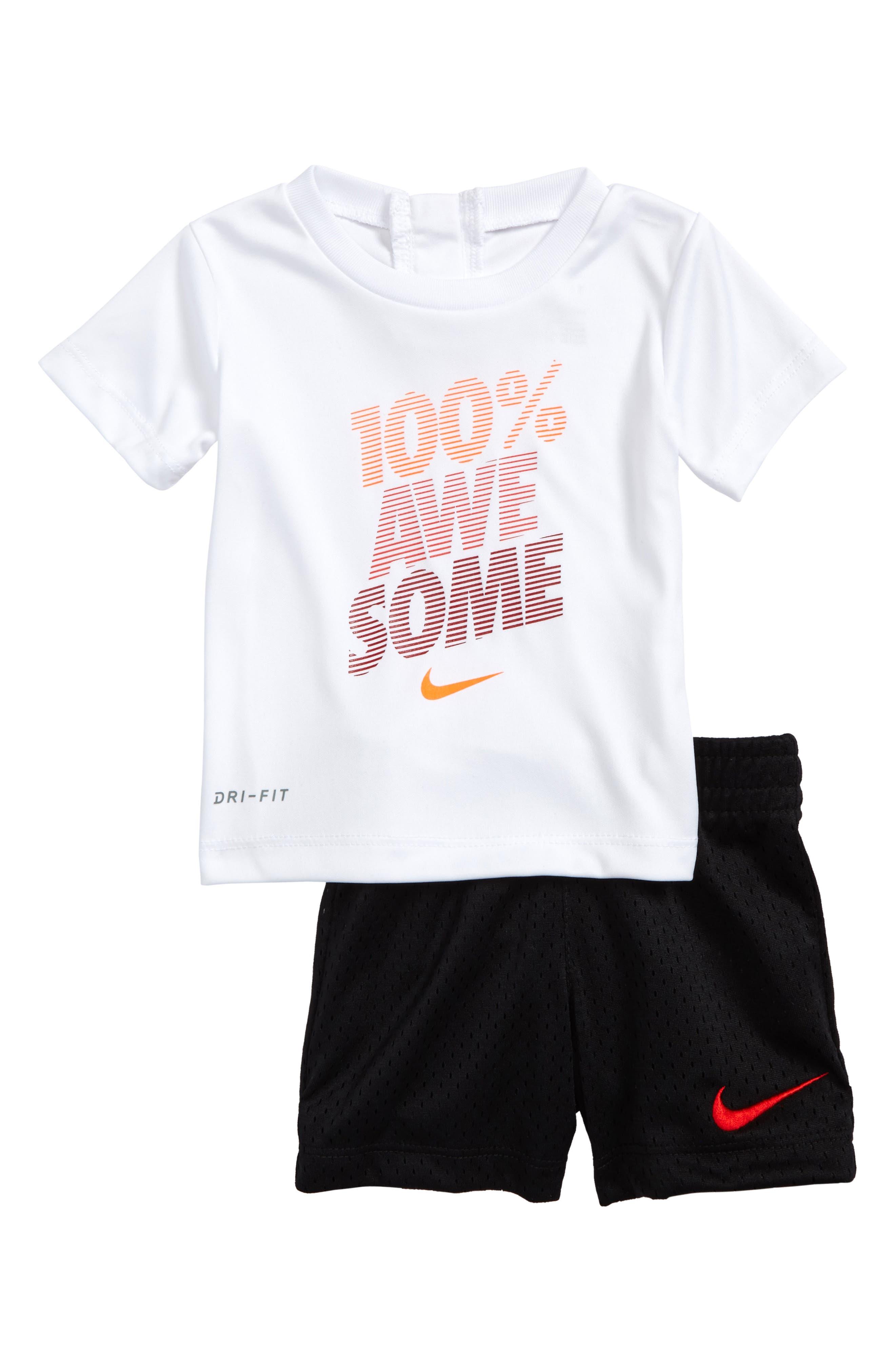Nike 100% Awesome Shirt & Shorts Set (Baby Boys)