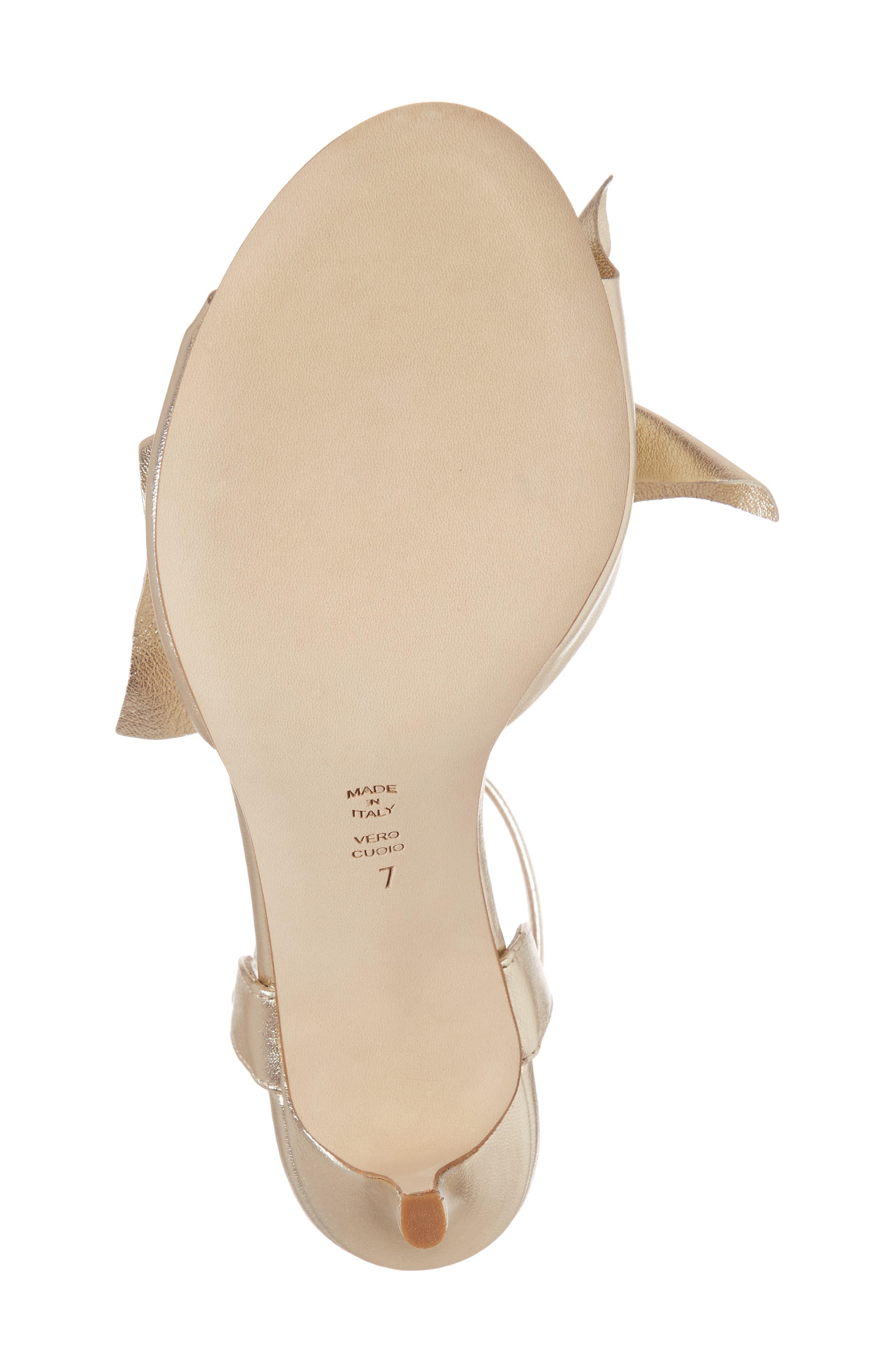 Butter Gem Embellished Ankle Strap Sandal,                             Alternate thumbnail 6, color,                             Platino Napa