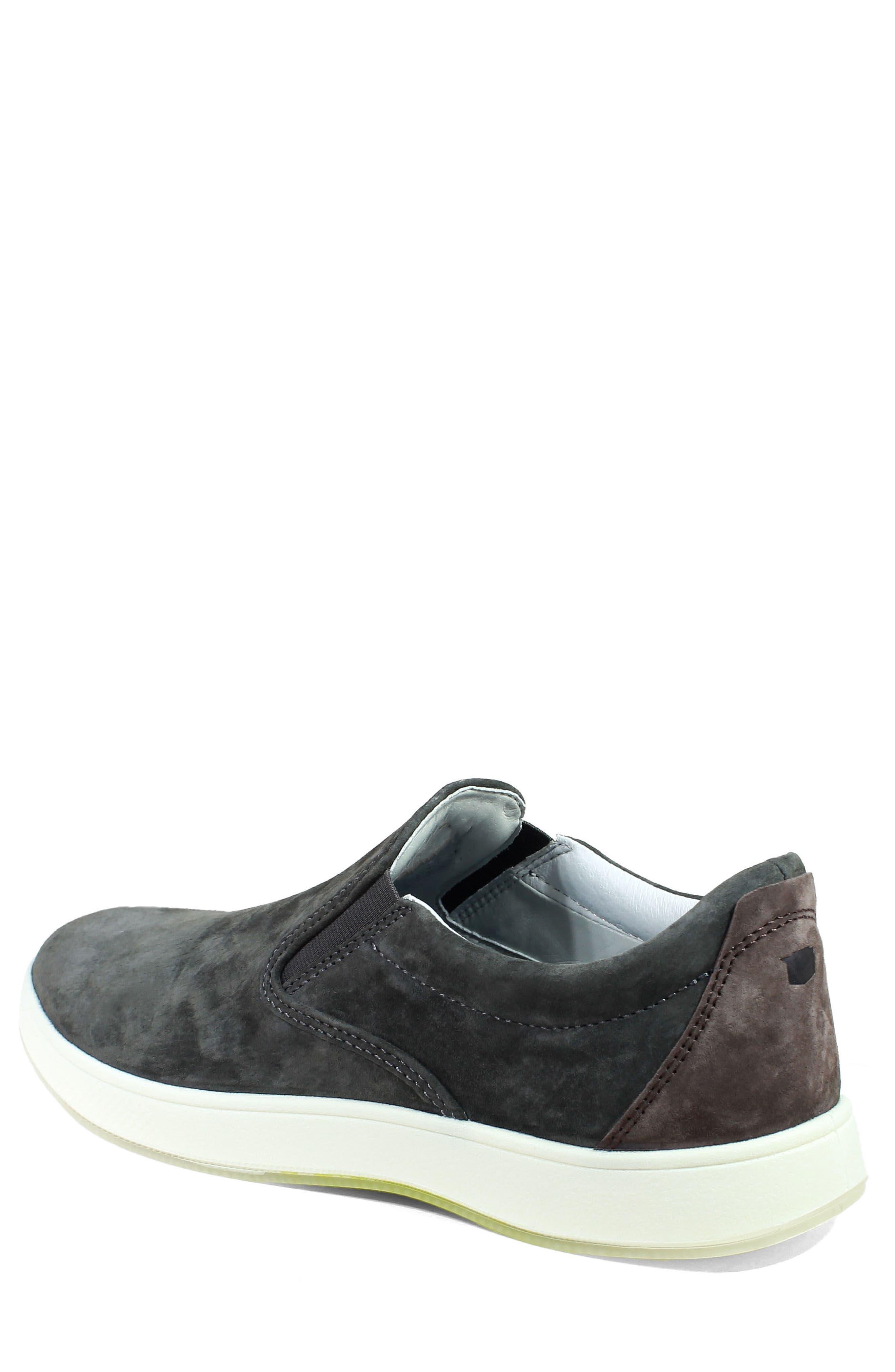 Edge Slip-On Sneaker,                             Alternate thumbnail 2, color,                             Charcoal Nubuck