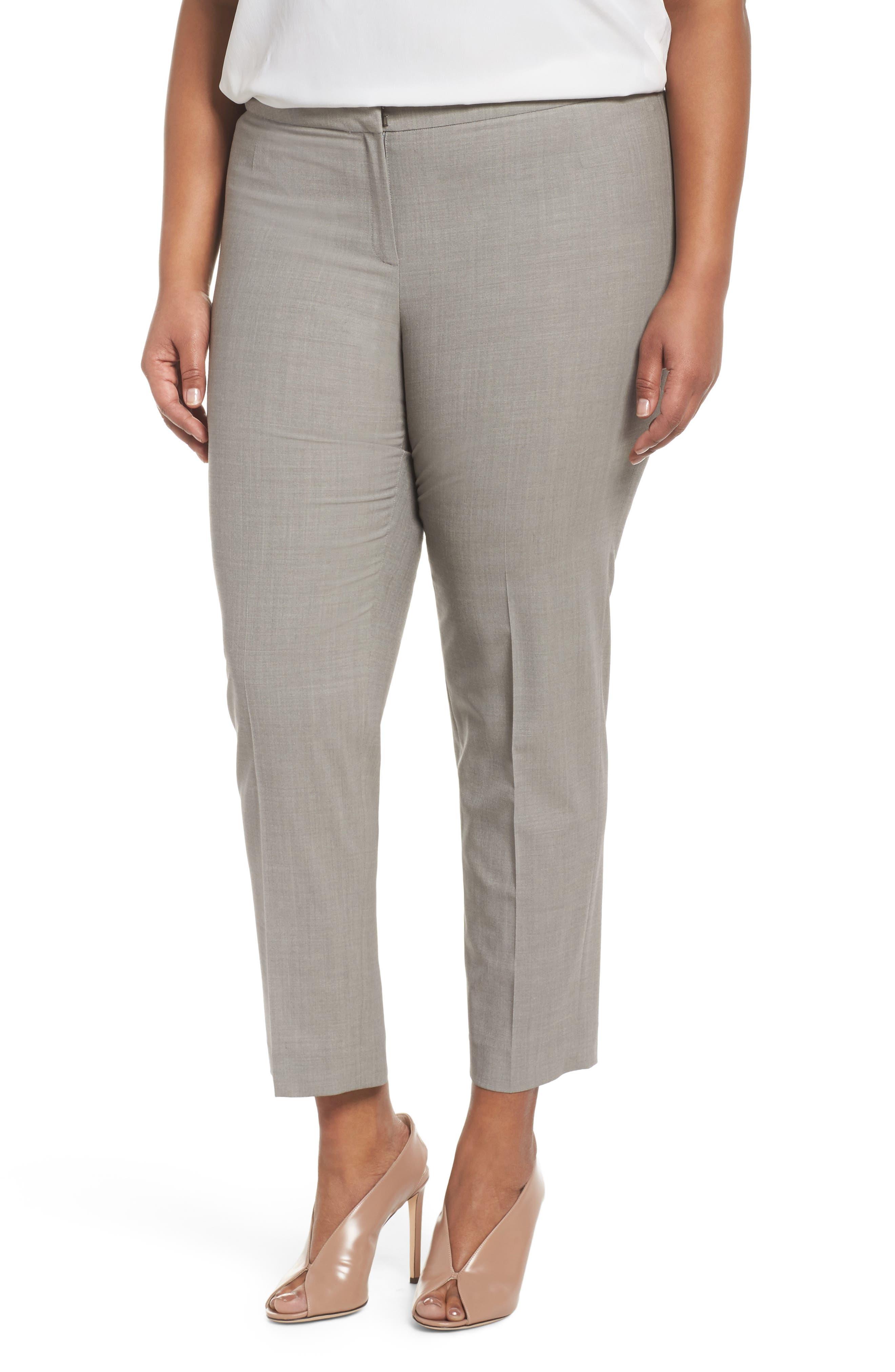 Bleecker Stretch Wool Suit Pants,                         Main,                         color, Feather Grey Melange